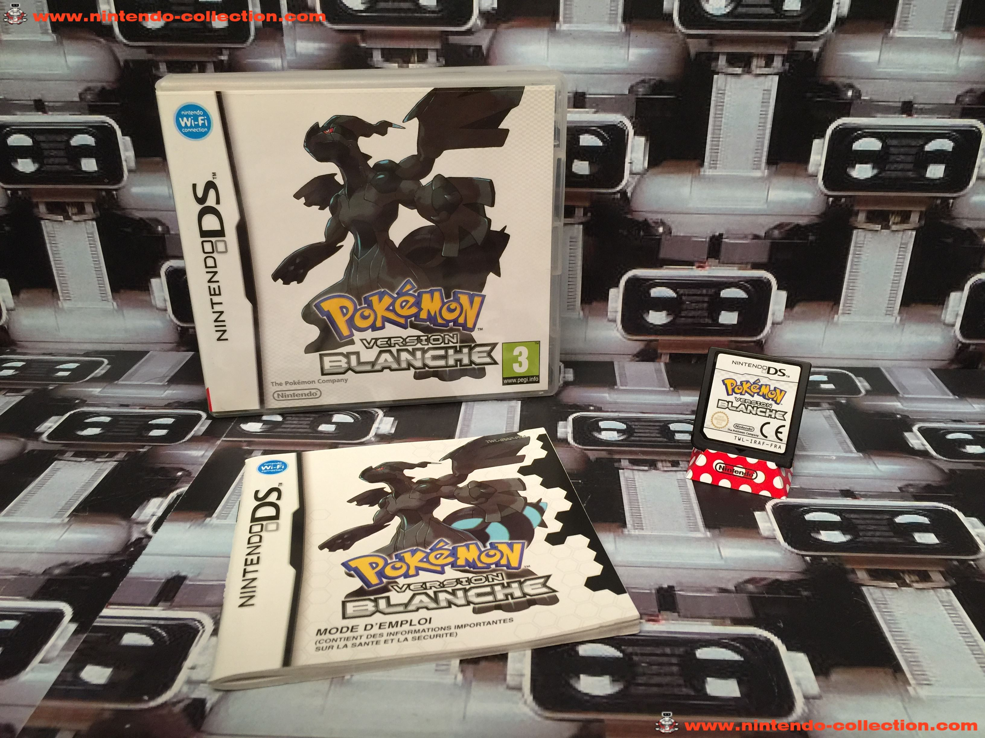 www.nintendo-collection.com - Nintendo DS Jeux Game Pokemon Version Blanche Euro Fr