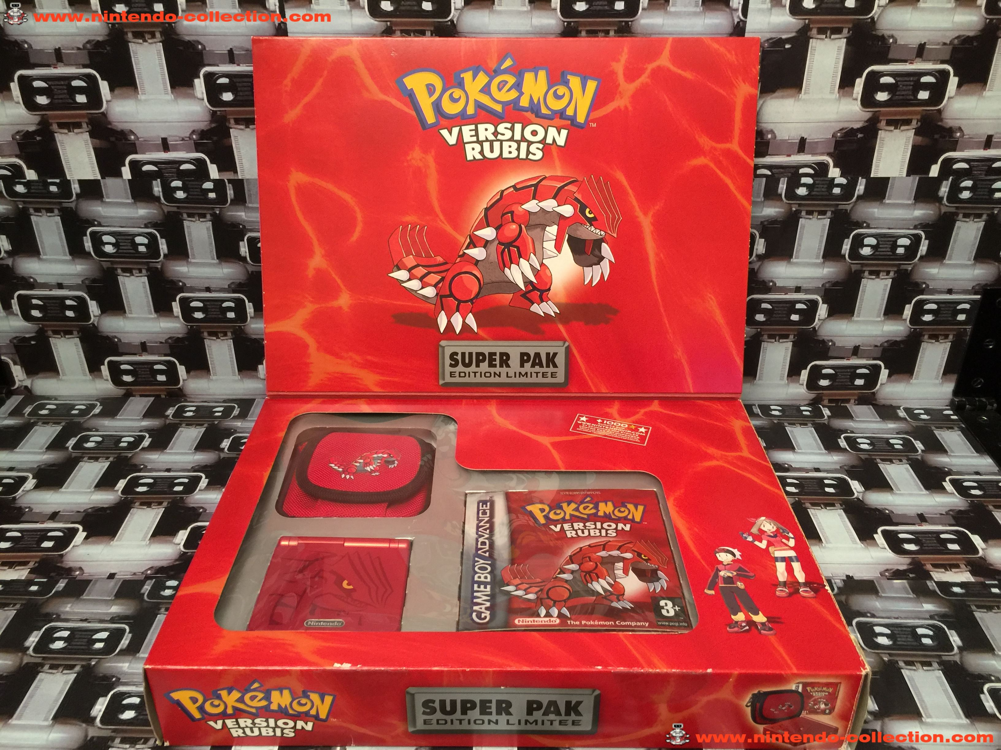 www.nintendo-collection.com - Gameboy Advance SP Super Pack Collector Pokemon Version Rubis - 02
