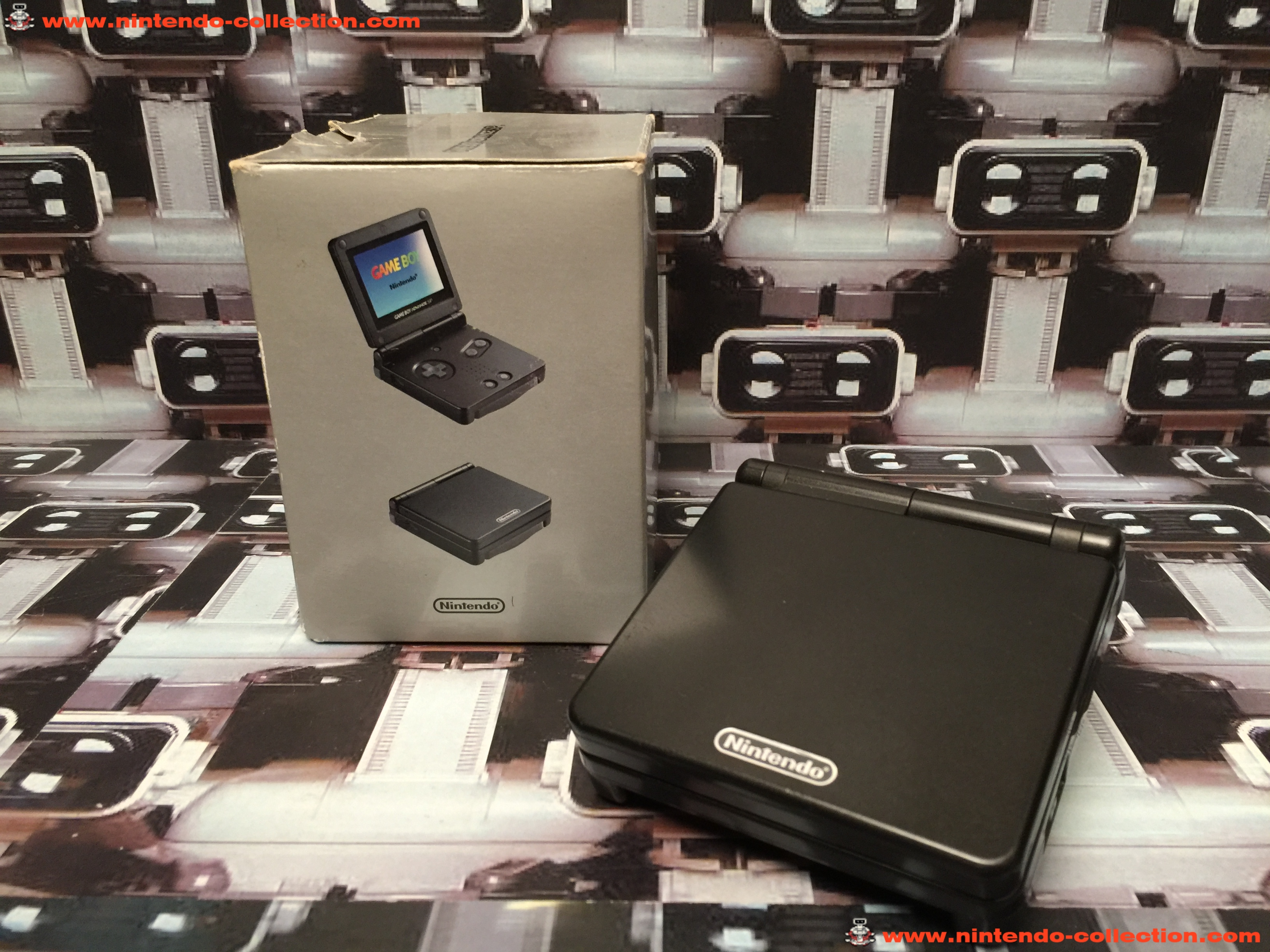 www.nintendo-collection.com - Gameboy Advance GBA SP Black Noir Edition europeenne european - 02
