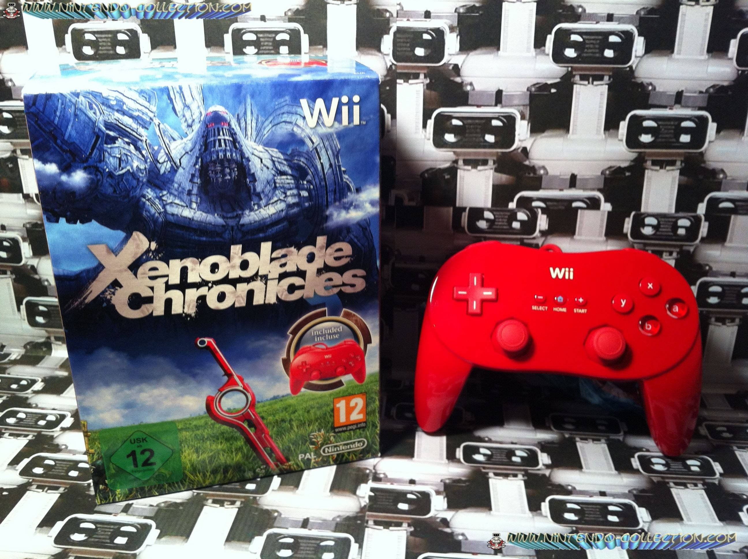 www.nintendo-collection.com - Wii Xenoblade Chronicles Limited Edition Wii controller pro Red limite