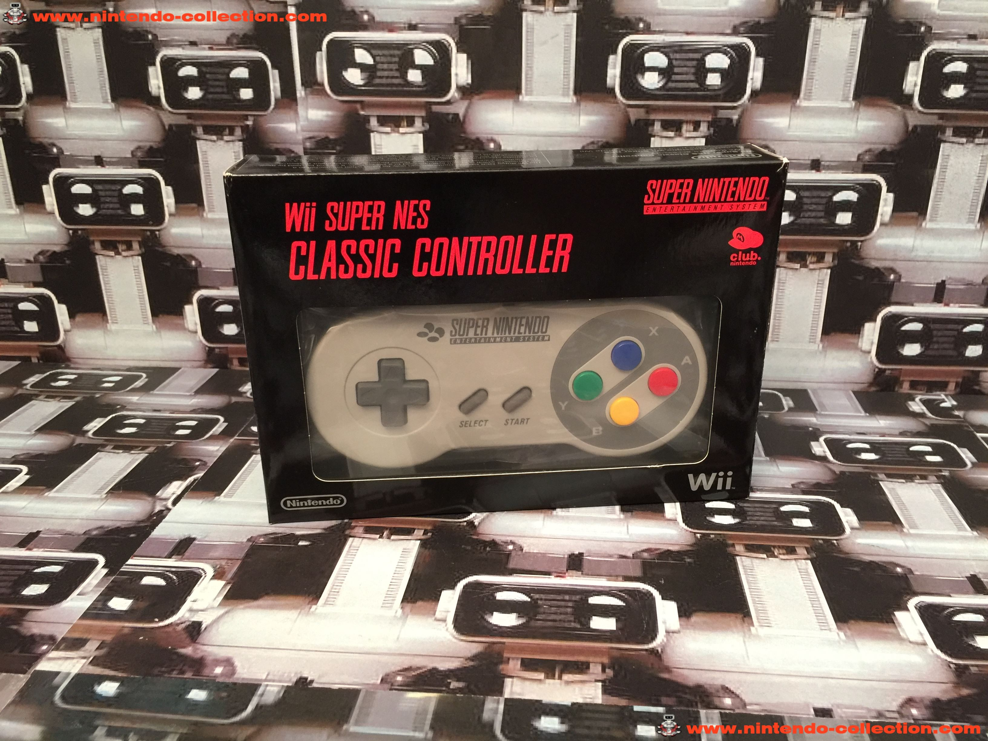 www.nintendo-collection.com - Nintendo Wii Accessoire Wii Super Nes Classic Controller Mnette  Club