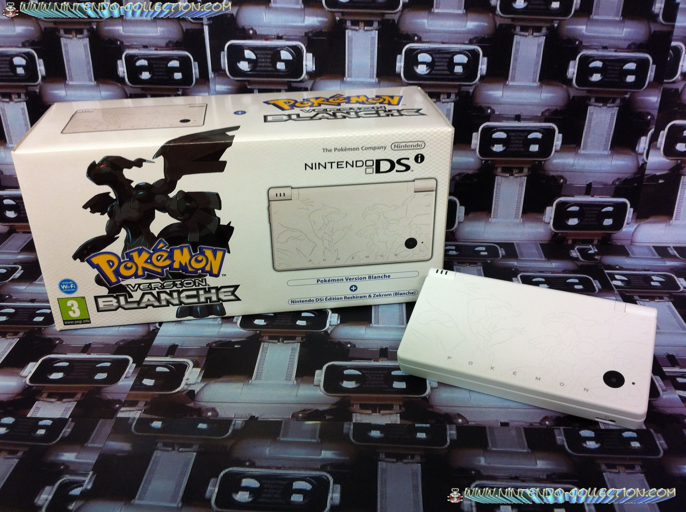 www.nintendo-collection.com - Nintendo DSi version Reshiram Zekrom Pokemon White blanc