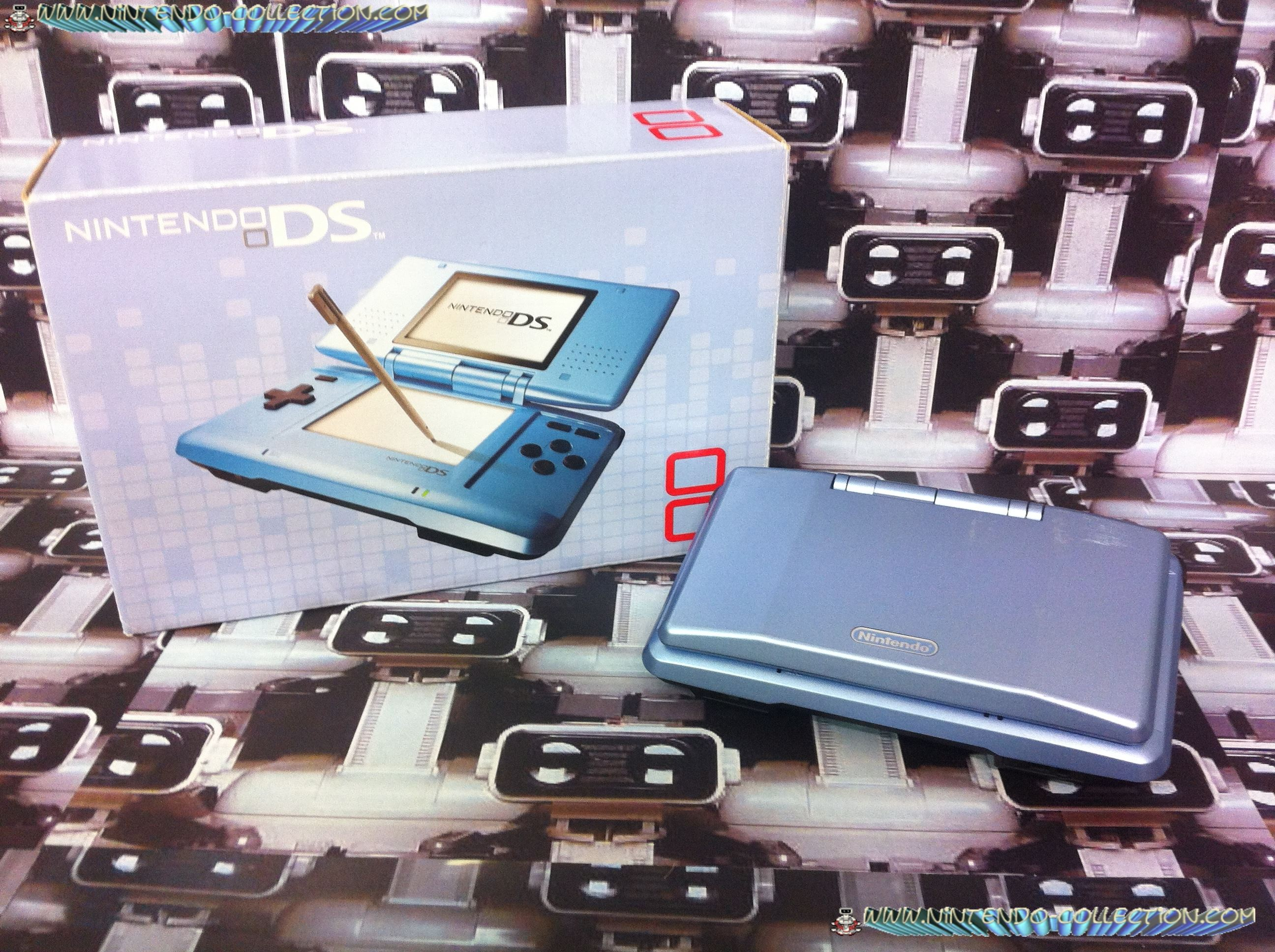 www.nintendo-collection.com -  Nintendo DS Blue Bleue