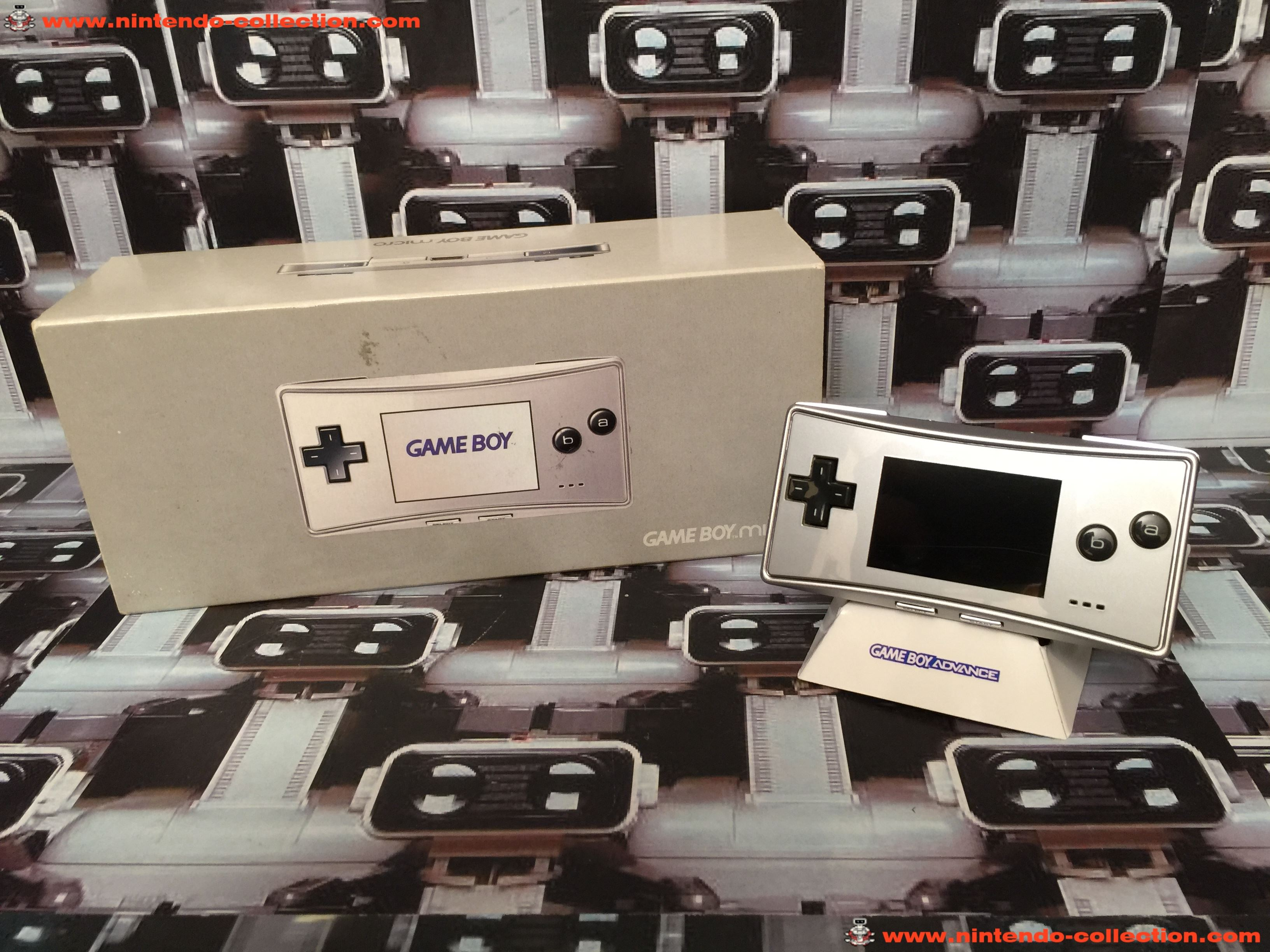 www.nintendo-collection.com - Gameboy Advance GBA Micro Grey Grise european version europeenne versi