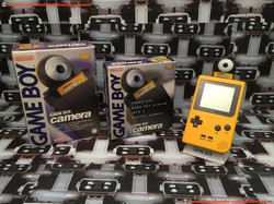 www.nintendo-collection.com - GameBoy Pocket + GameBoy Camera Yellow Jaune UK Version Royaume-Uni +