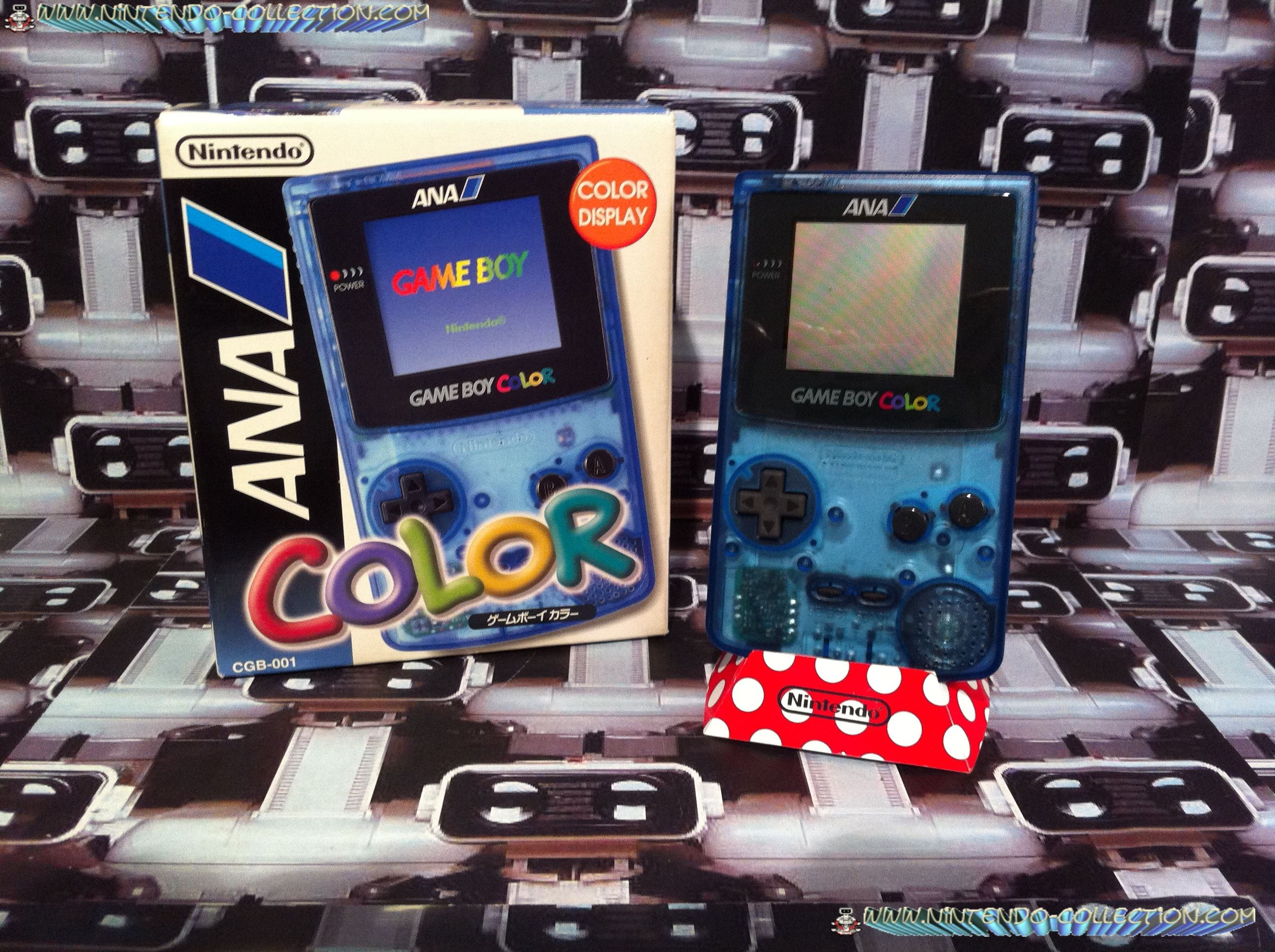 www.nintendo-collection.com - Gameboy Color ANA edition Japan - All Nippon Airways