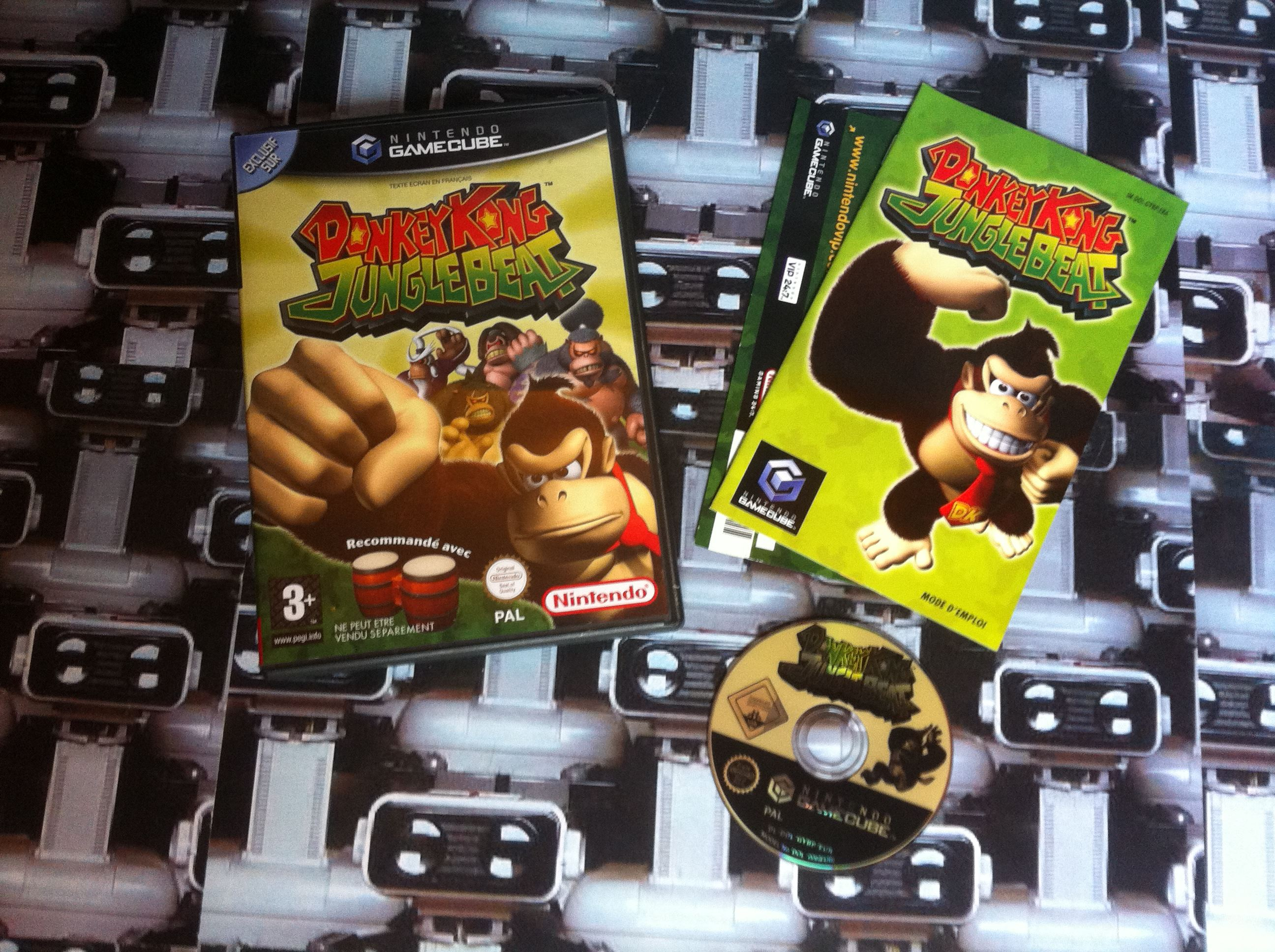 www.nintendo-collection.com - Gamecube  Game Jeux Donkey Jungle Beat european europeen