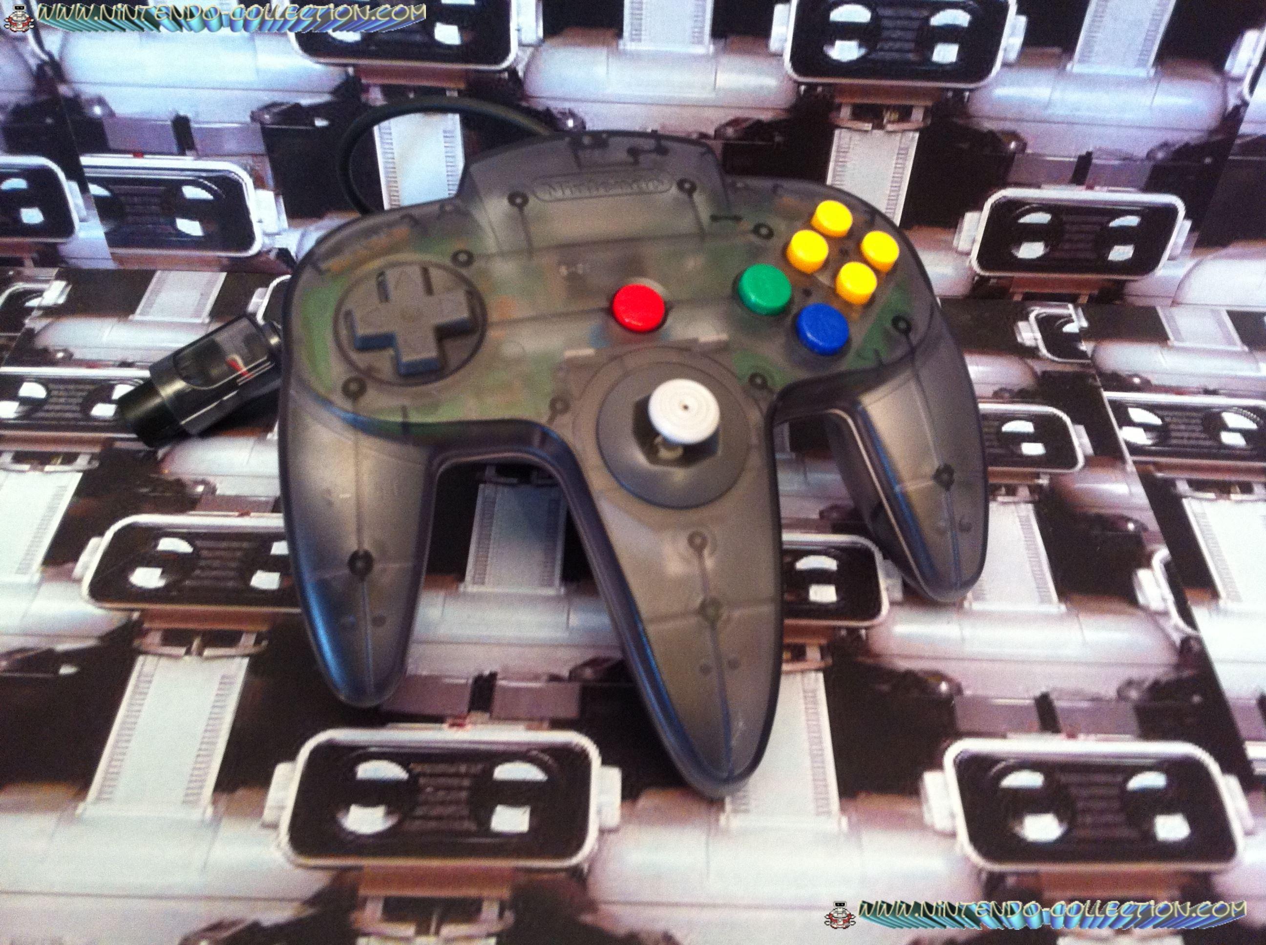 www.nintendo-collection.com  - Nintendo N64 Controller Clear black - Manette  Noir transparente