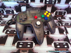 www.nintendo-collection.com  - Nintendo N64 Controller Clear black - Manette  Noir transparente