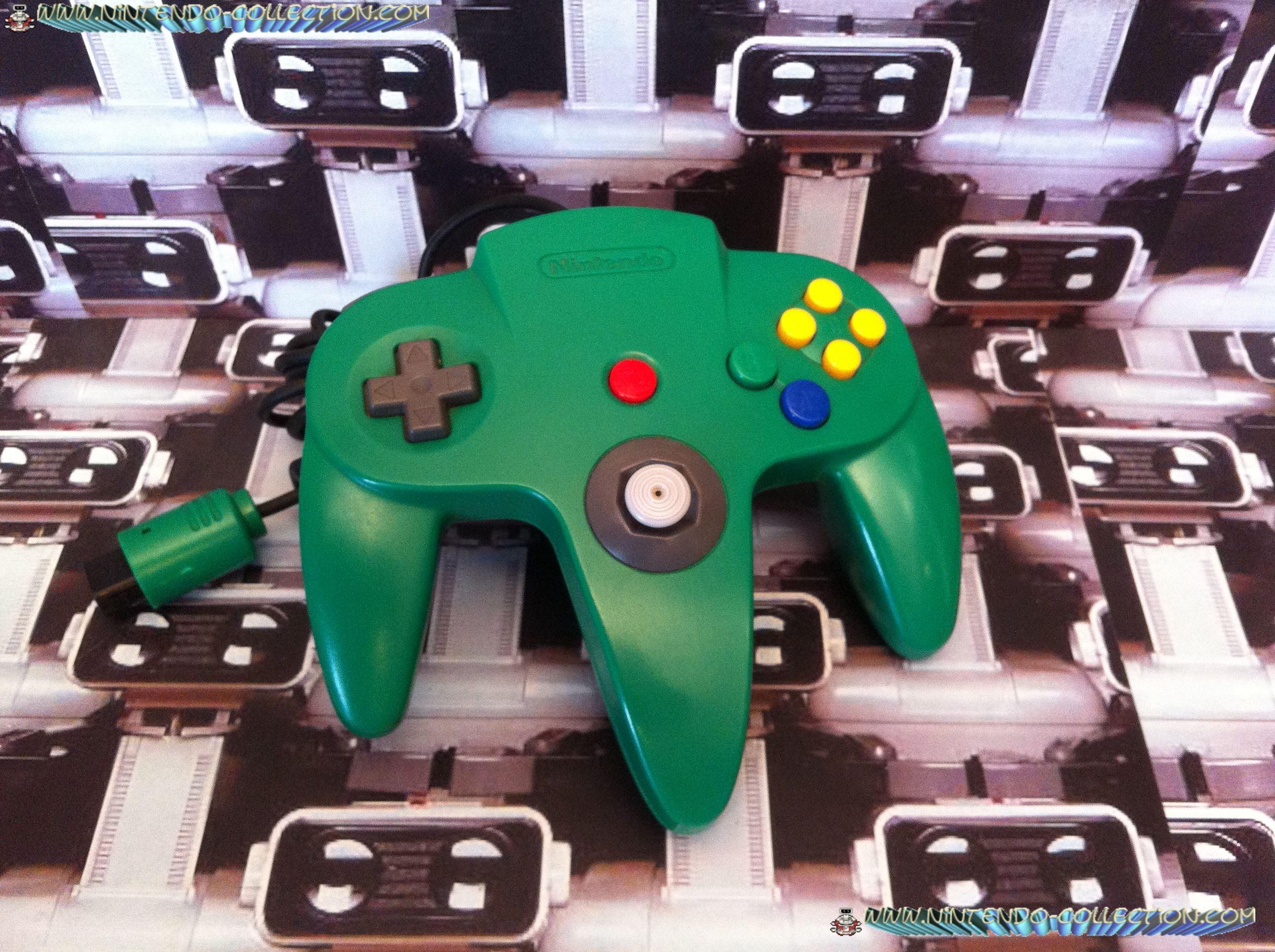 www.nintendo-collection.com  - Nintendo N64 Controller green - Manette  verte.jpg