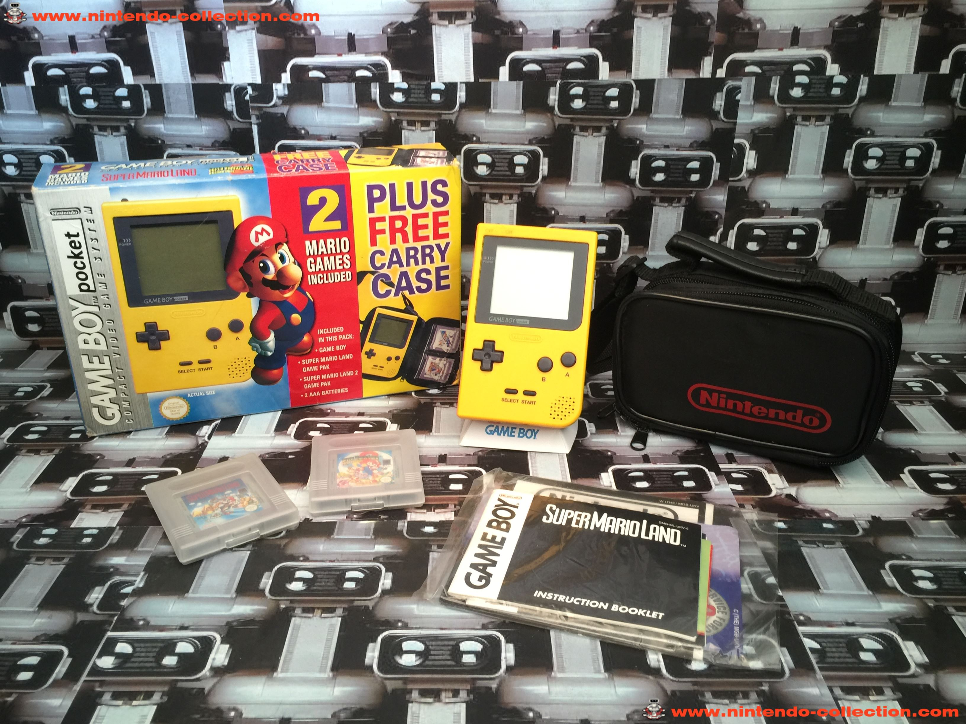 www.nintendo-collection.com - Gameboy Yellow jaune Pack Mario UK version united Kingdom - 01