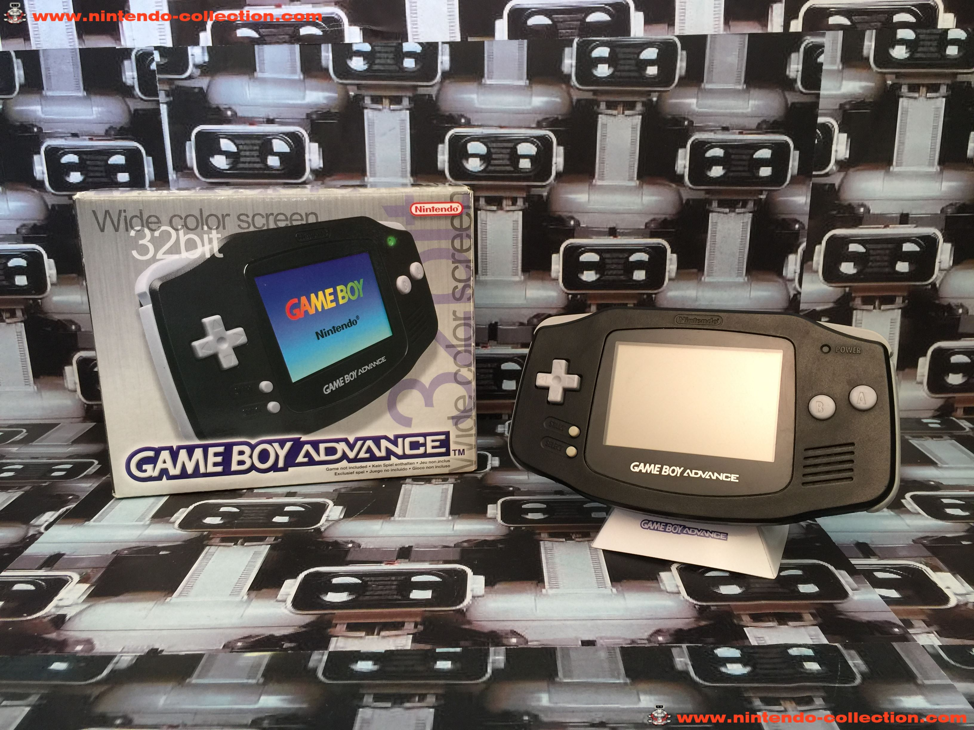 www.nintendo-collection.com - Gameboy Advance GBA Black Noir european europeenne