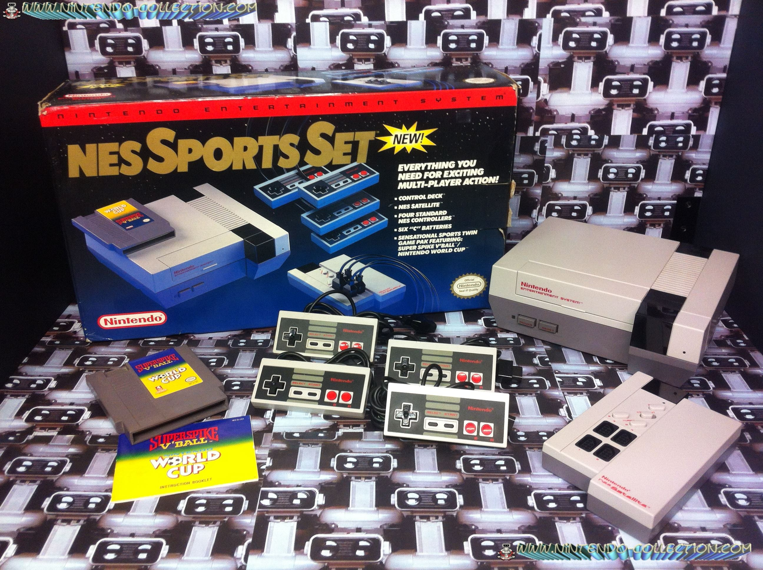 www.nintendo-collection.com - Nintendo NES Sports Set - Red Line - ligne rouge - Pack US