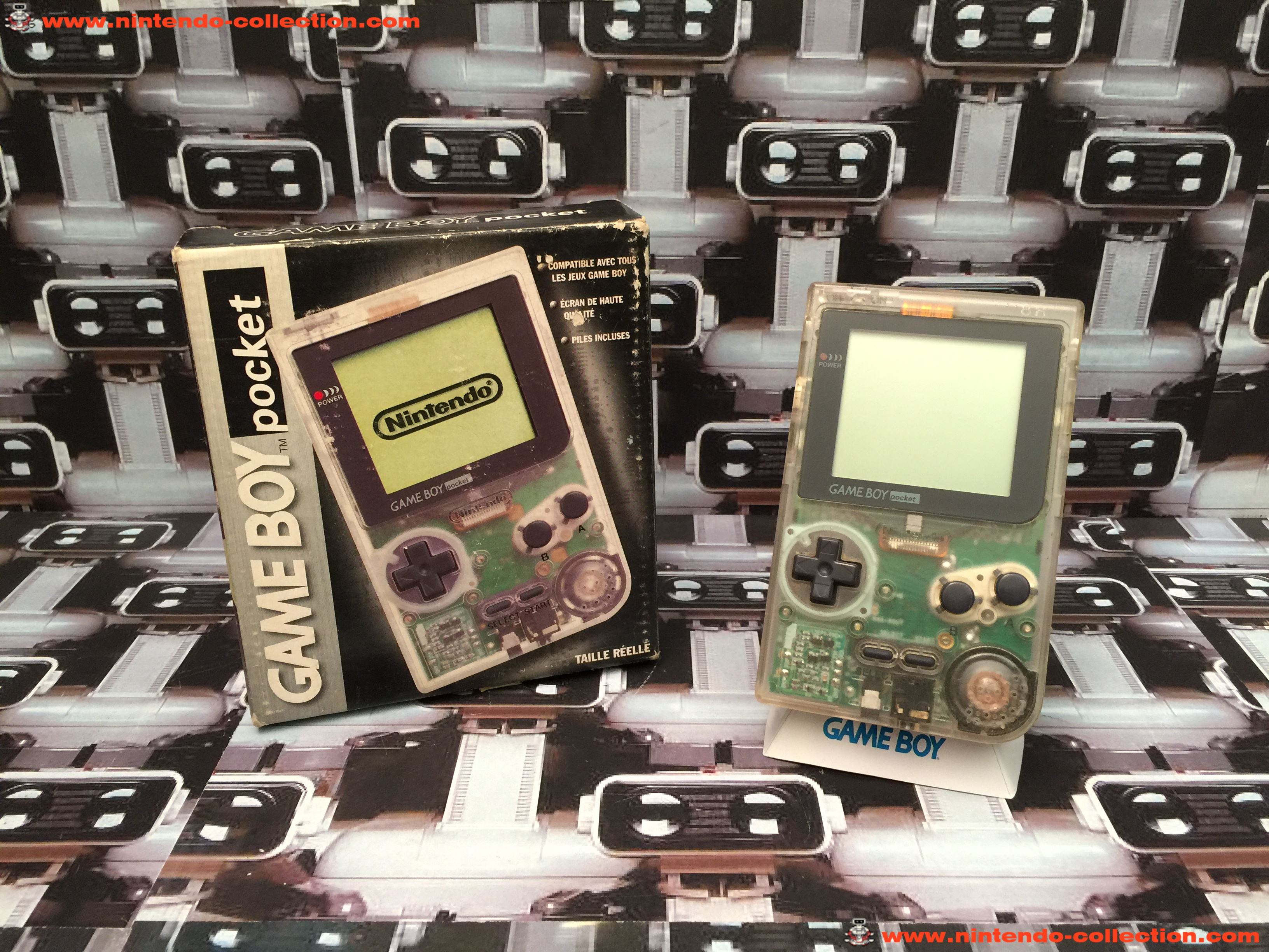 www.nintendo-collection.com - Gameboy GB Pocket Clear Transparente en boite in box European Europe