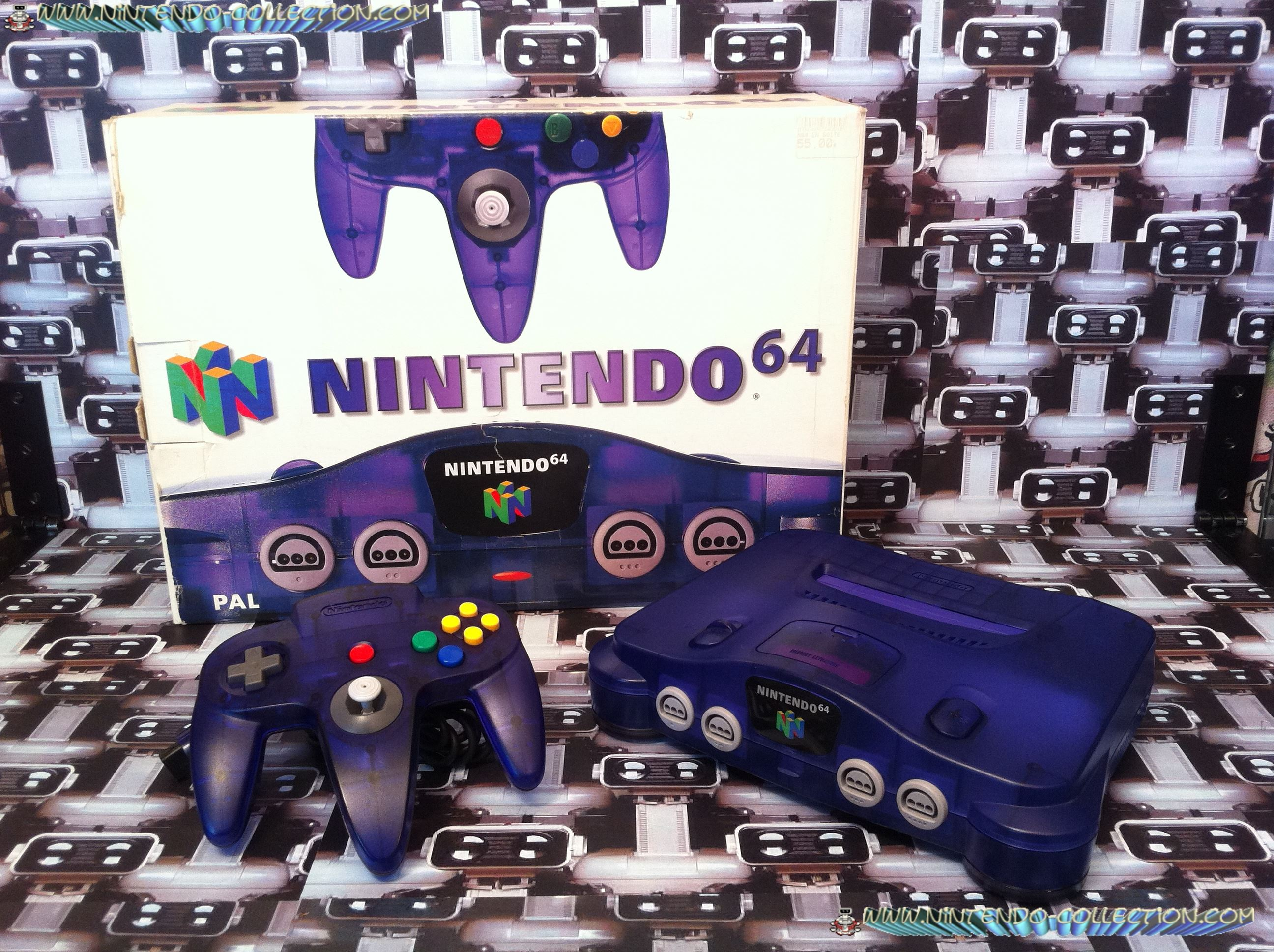 www.nintendo-collection.com - Nintendo 64 N64 Clear Purple - Violette transparente - Funtastic