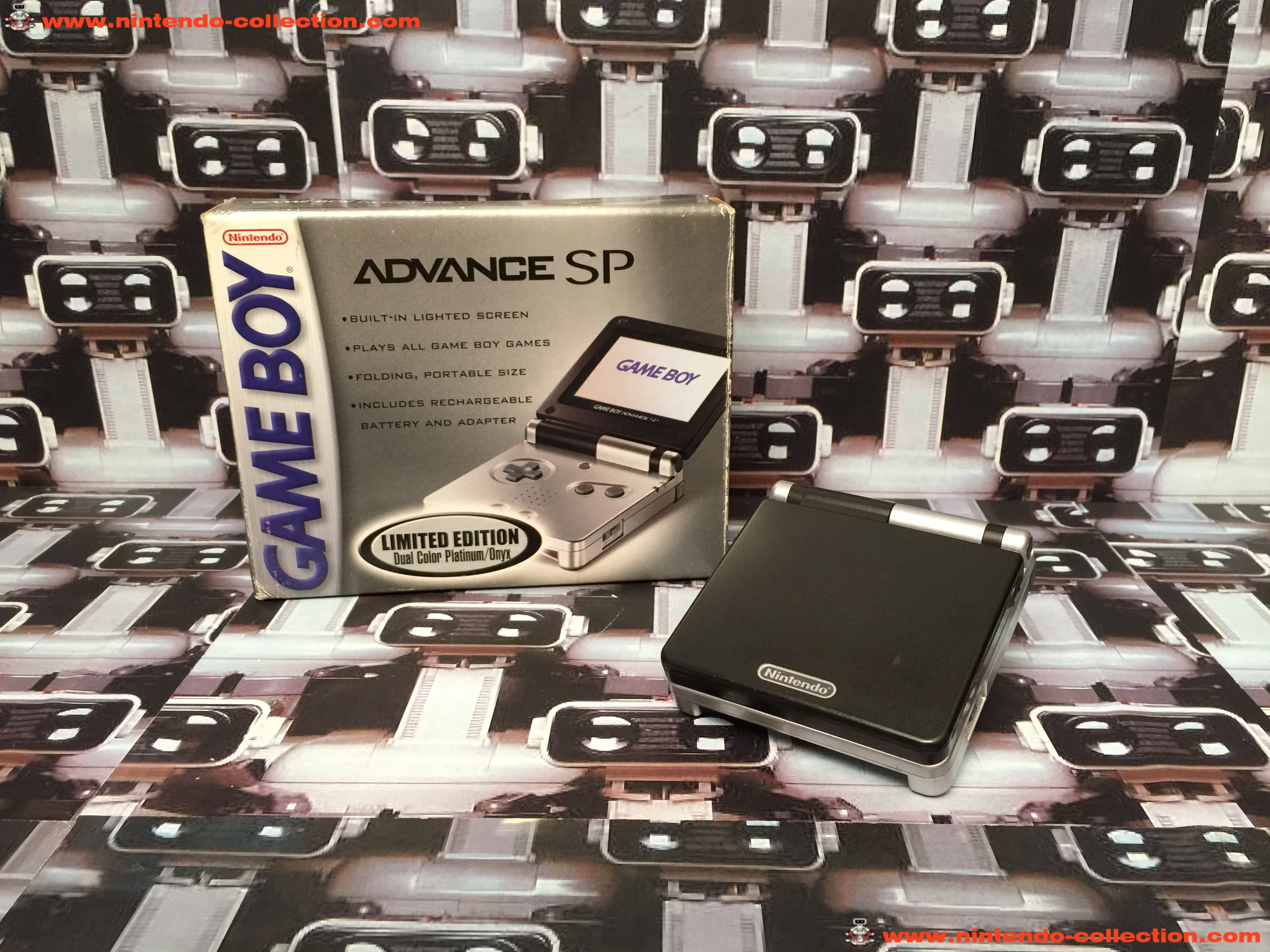 www.nintendo-collection.com - Gameboy Advance GBA SP Black Onyx edition US - 01