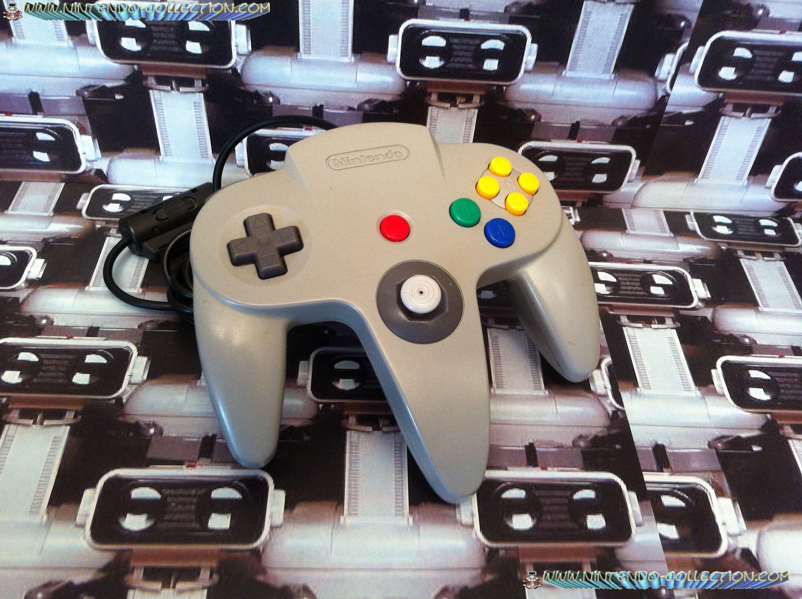 www.nintendo-collection.com  - Nintendo N64 Controller grey - Manette grise