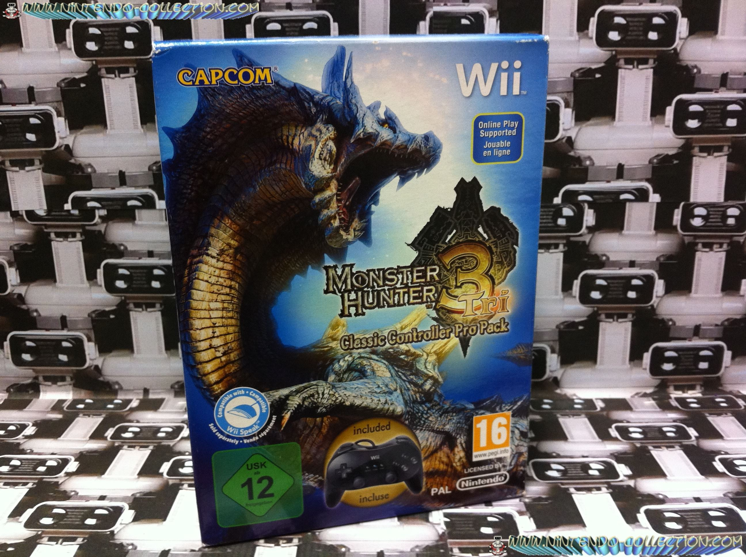www.nintendo-collection.com - Mon Pack collector Monstre Hunter 3 Wii