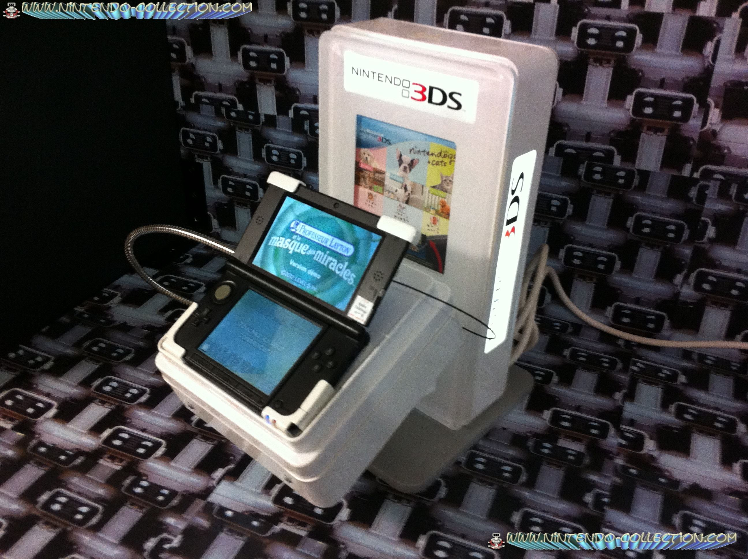 www.nintendo-collection.com - Borne Kiosk  Demo 3DS XL LL Comptoir Counter Display