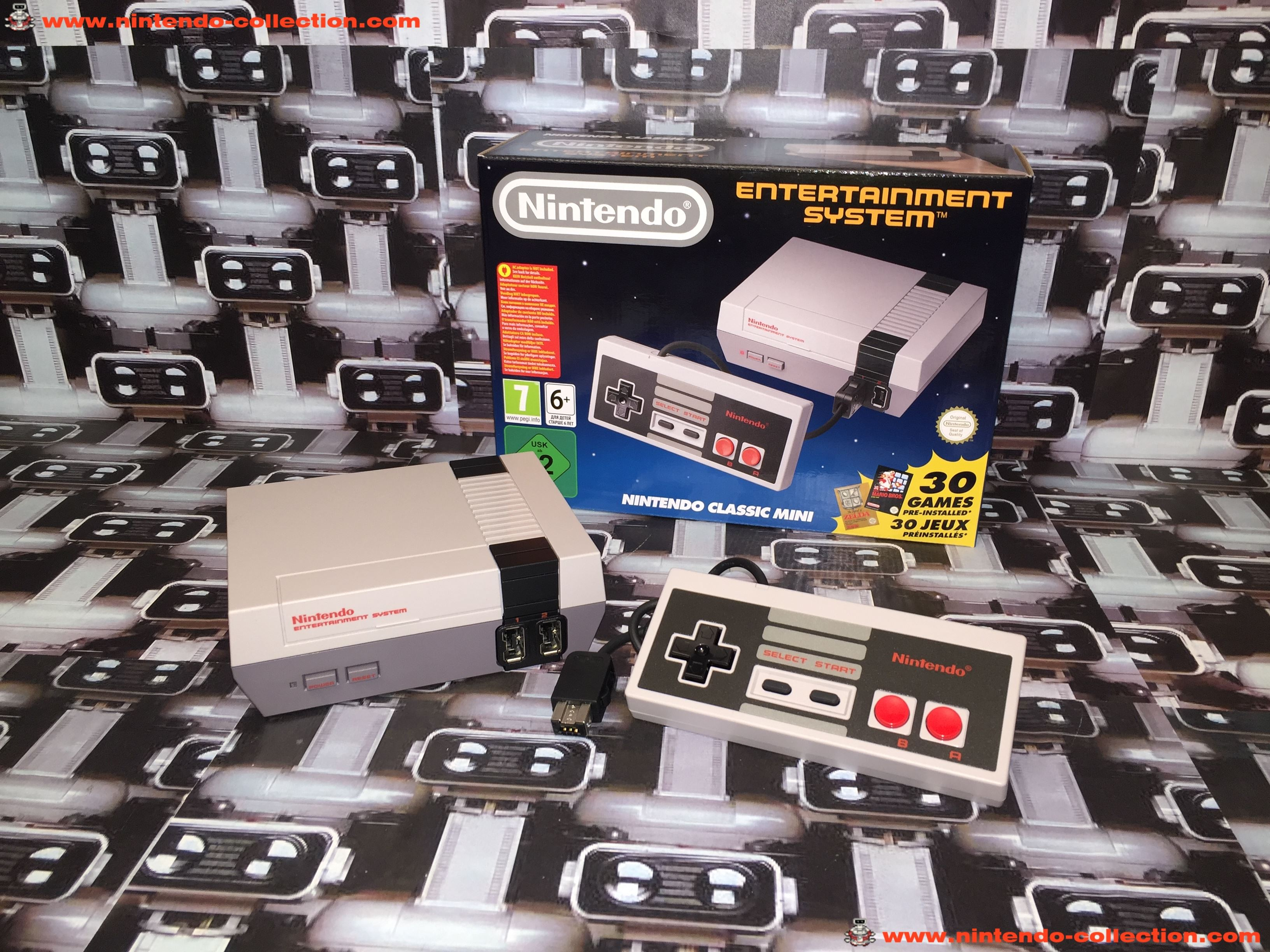 www.nintendo-collection.com - Nintendo Classic Mini Nes Nintendo Entertainment system European Europ