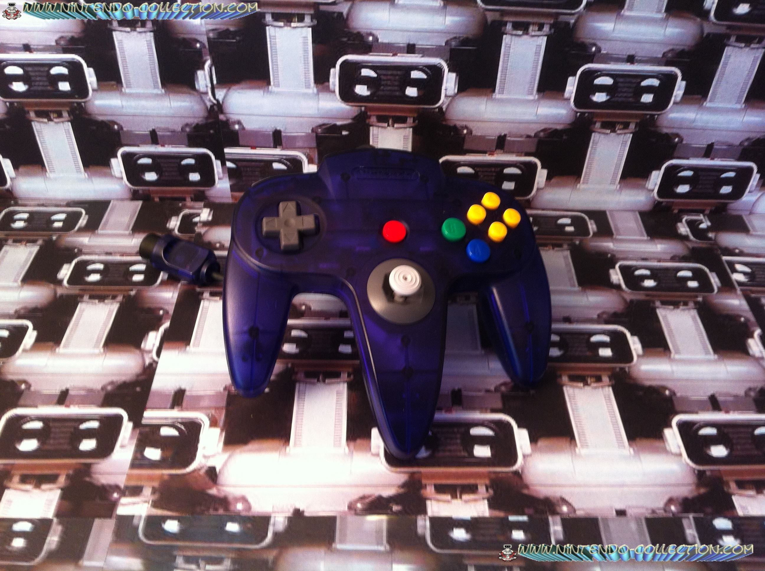 www.nintendo-collection.com  - Nintendo N64 Controller Clear purple Manette  violette transparente