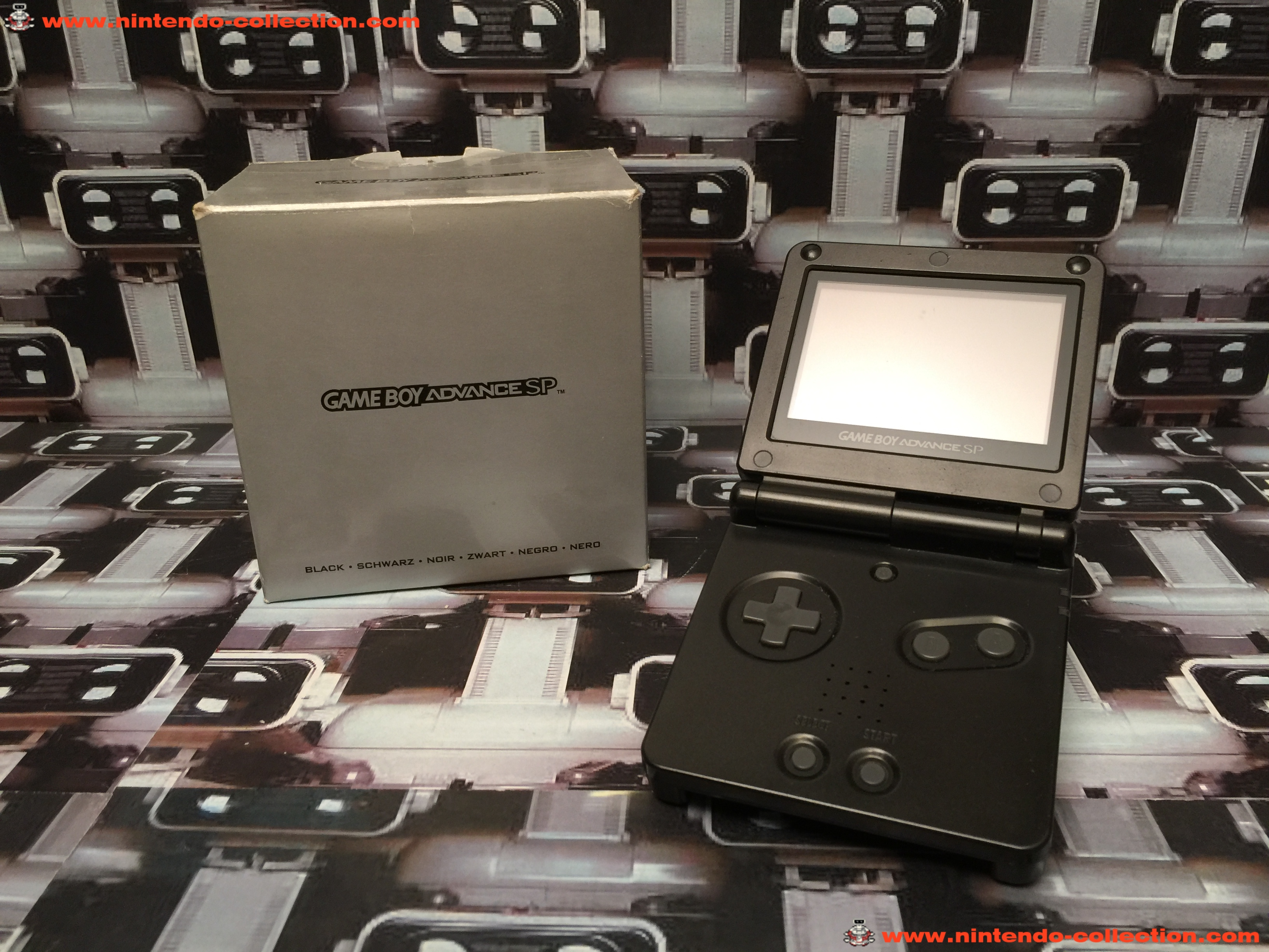 www.nintendo-collection.com - Gameboy Advance GBA SP Black Noir Edition europeenne european - 03