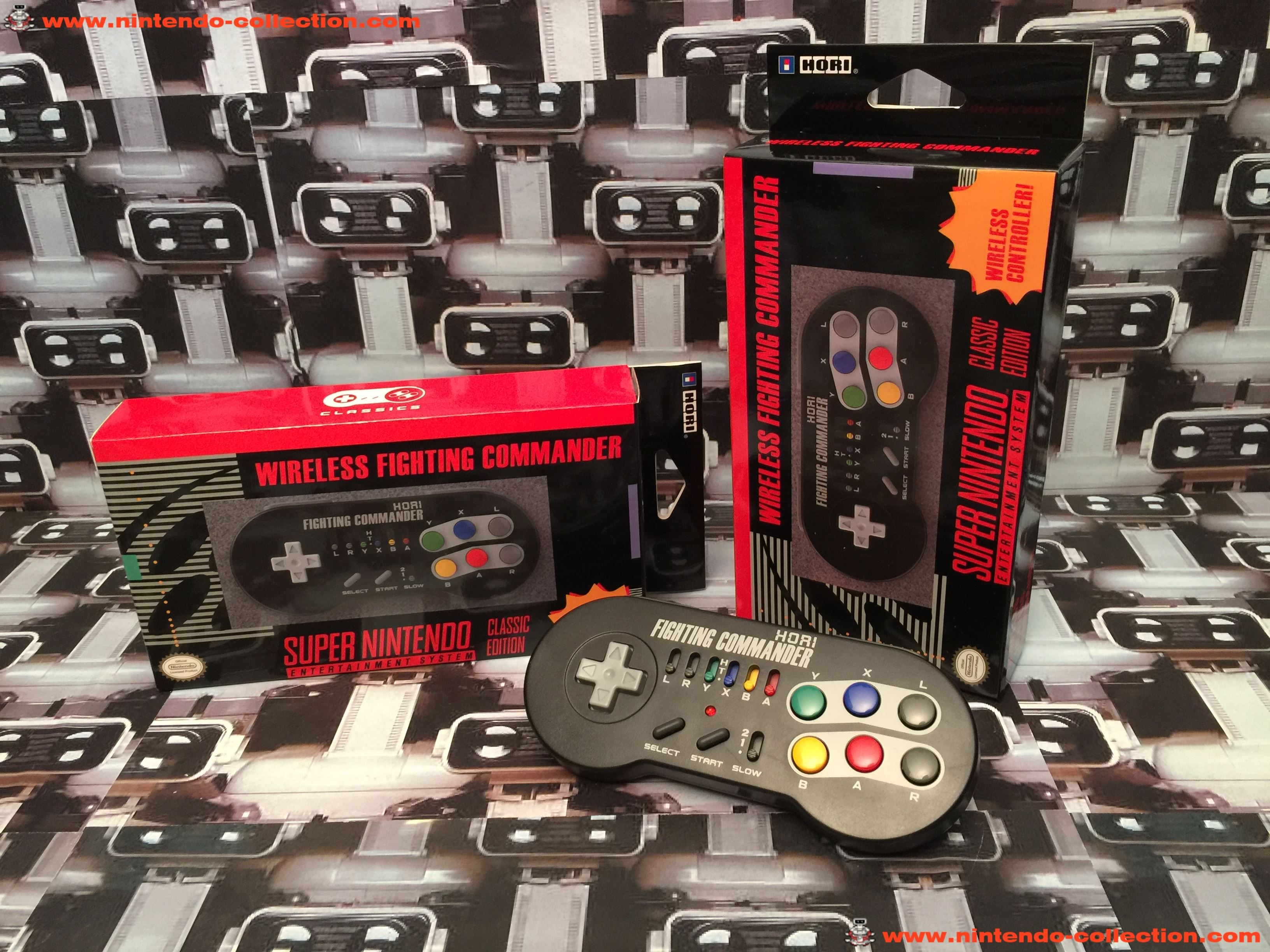 www.nintendo-collection.com - Nintendo Classic Mini Controller Manette Hori Wireless Fighting Comman