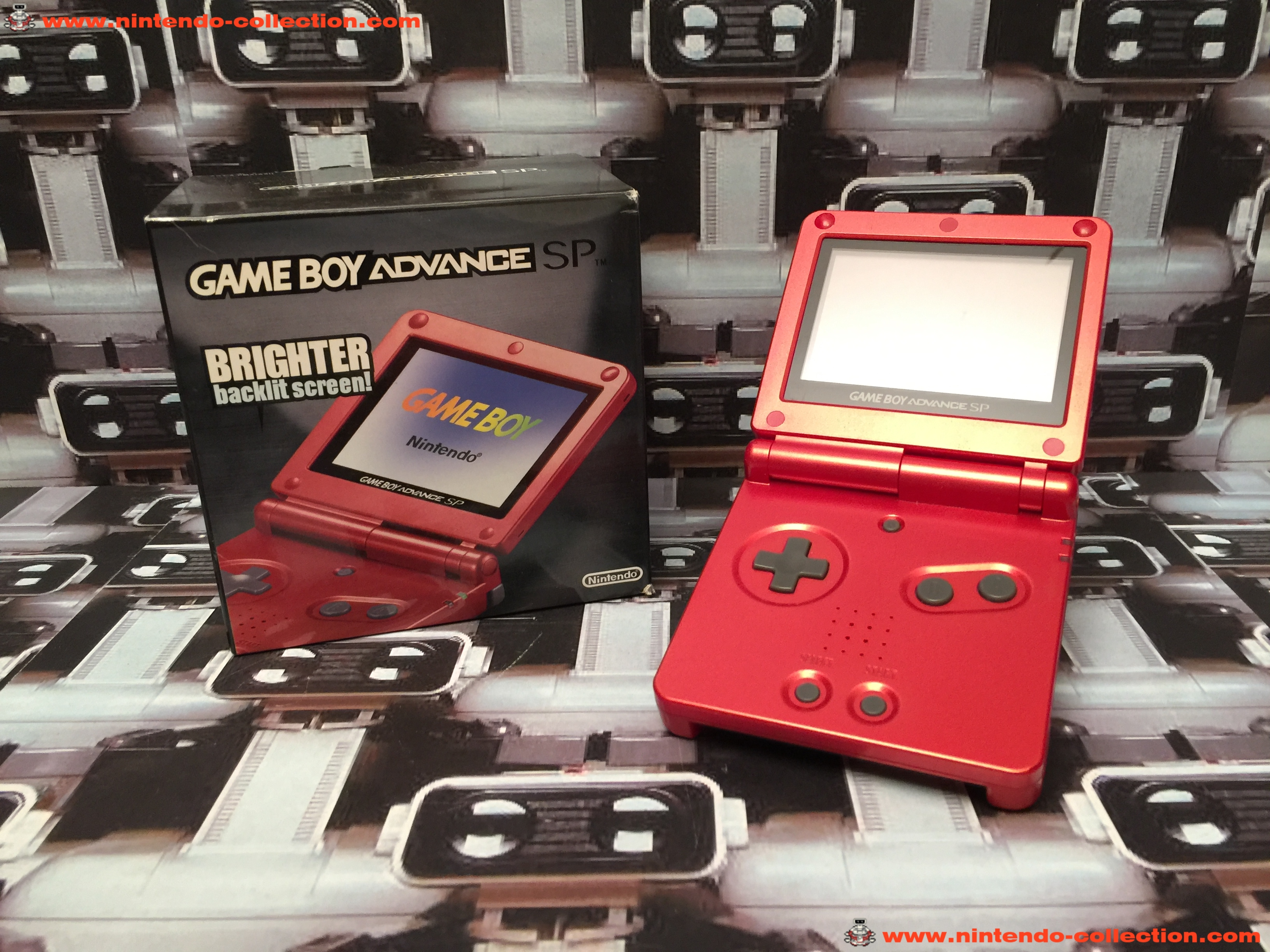 www.nintendo-collection.com - Gameboy Advance GBA SP Rouge Red edition Singapour Singapore - 03