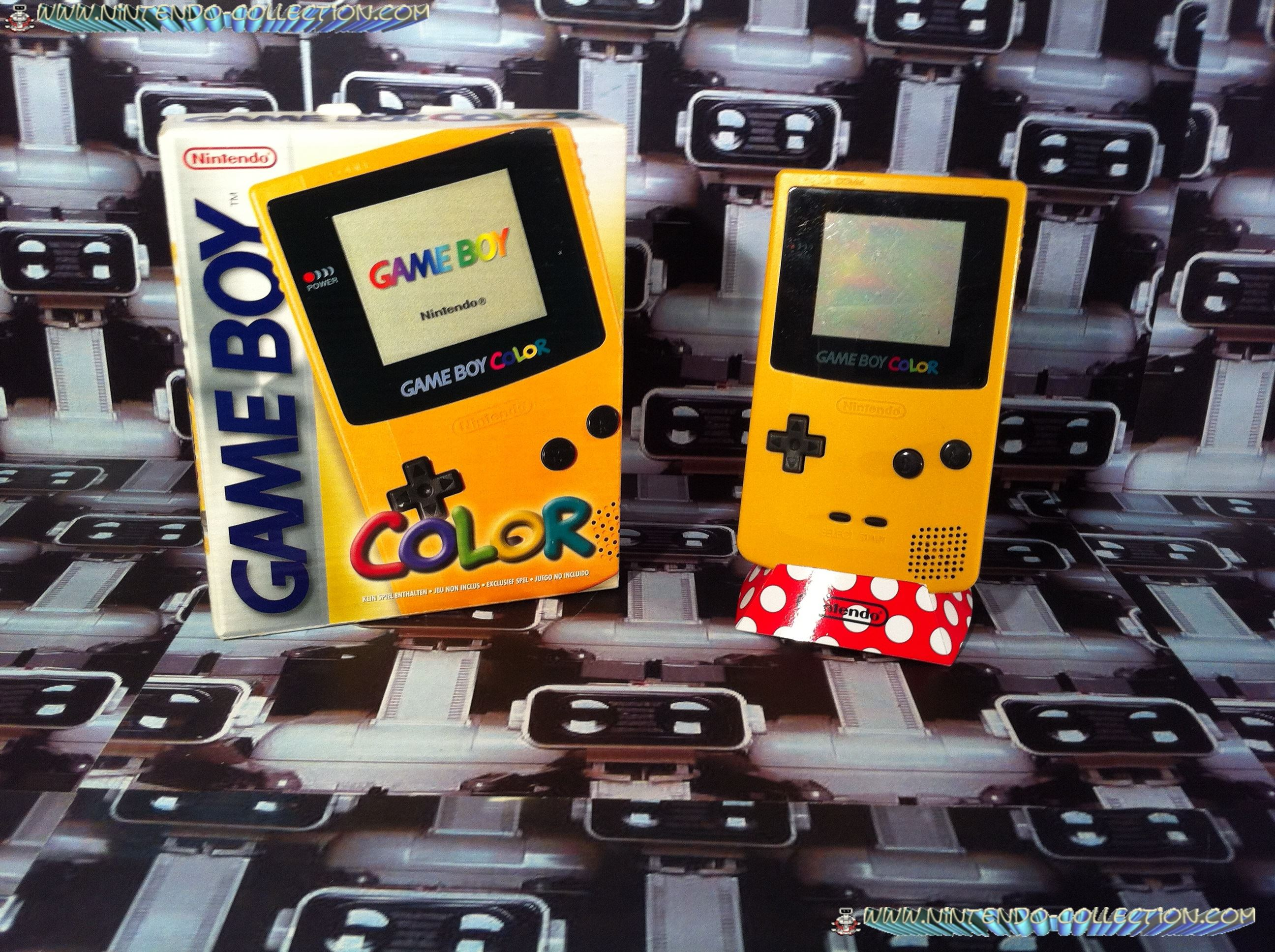 www.nintendo-collection.com - Gameboy Color Jaune Yellow edition european europe