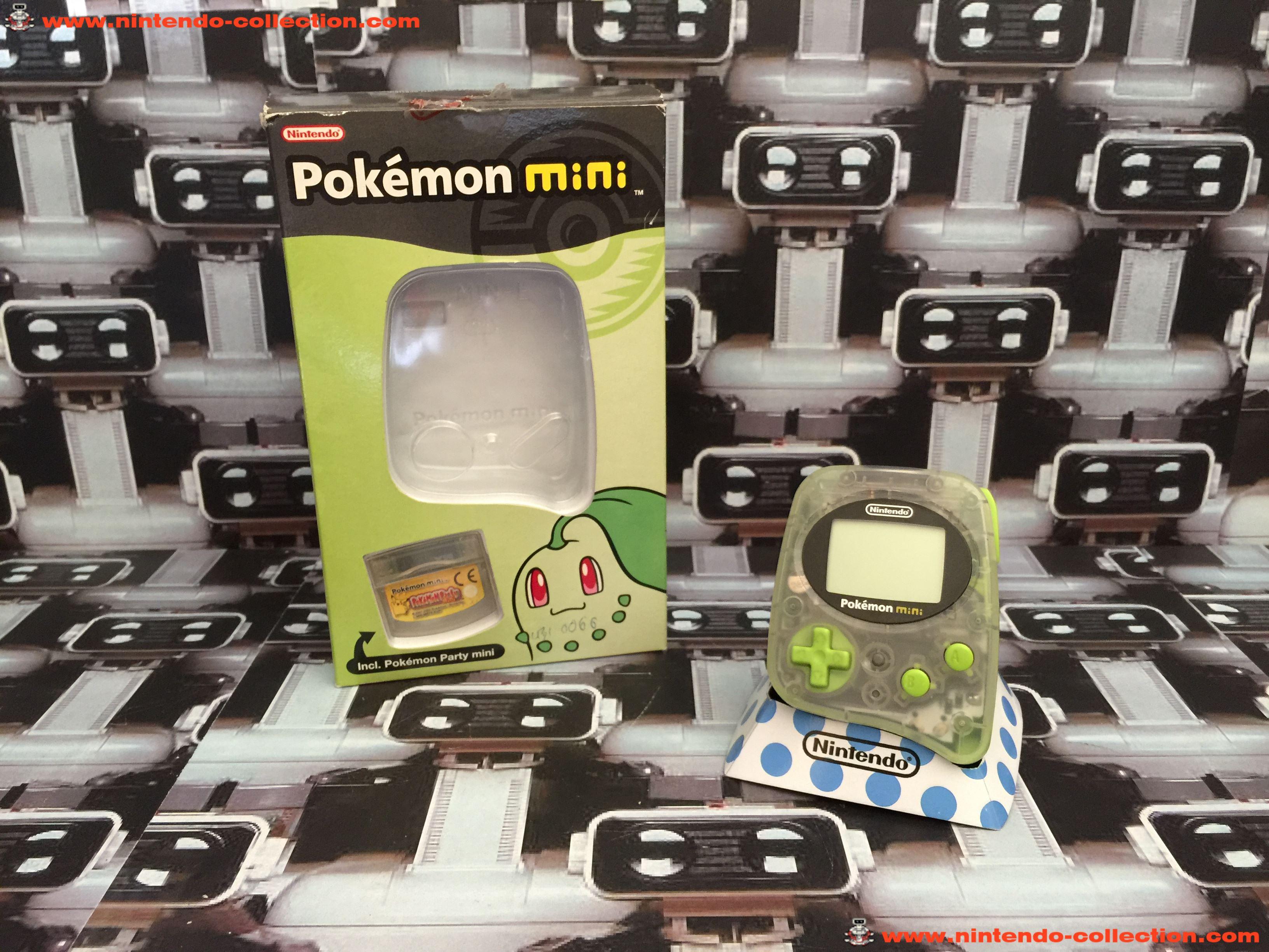 www.nintendo-collection.com - Mini Nintendo Pokemon Mini Green Verte