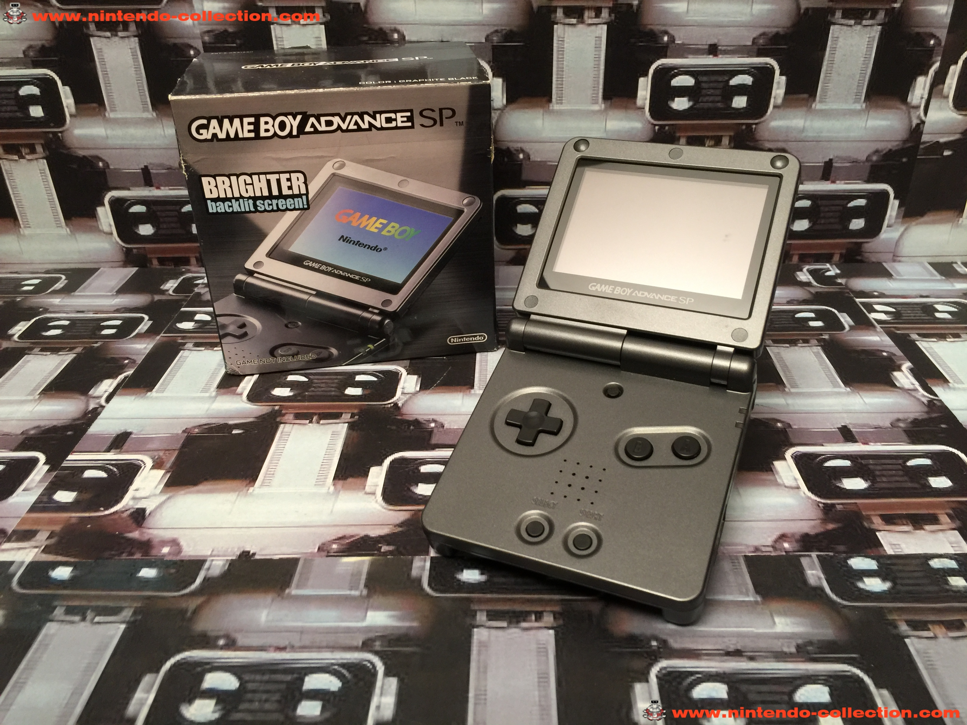 www.nintendo-collection.com - Gameboy Advance GBA SP Onyx Black Onyx Noir edition Hong Kong - 03