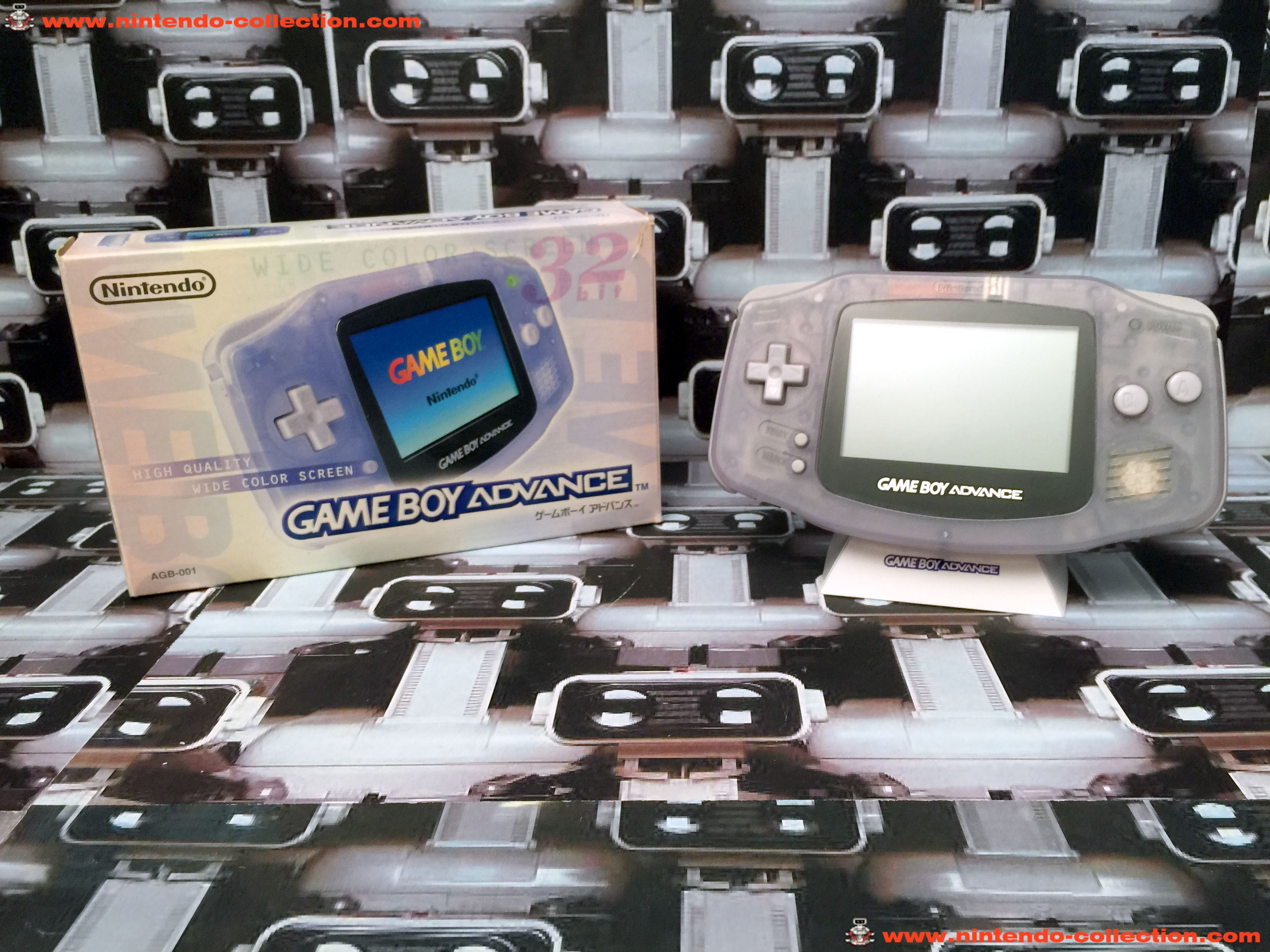 www.nintendo-collection.com - Gameboy Advance GBA Glacier Clear Purple Violet Transparent Japanese J