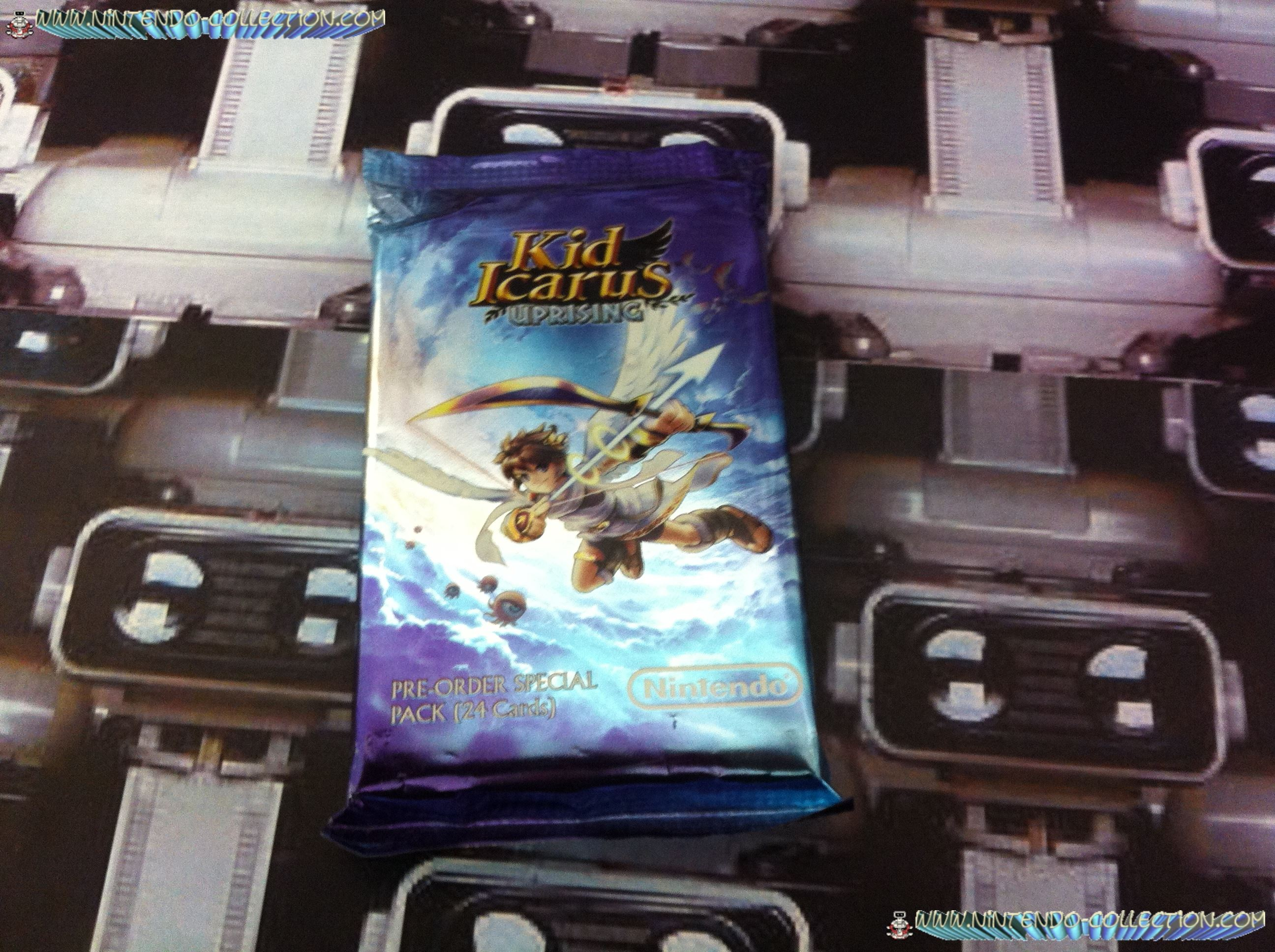 www.nintendo-collection.com - Pre-Reservation special pack Kid Icarus Uprising  24 Cartes - Nor For