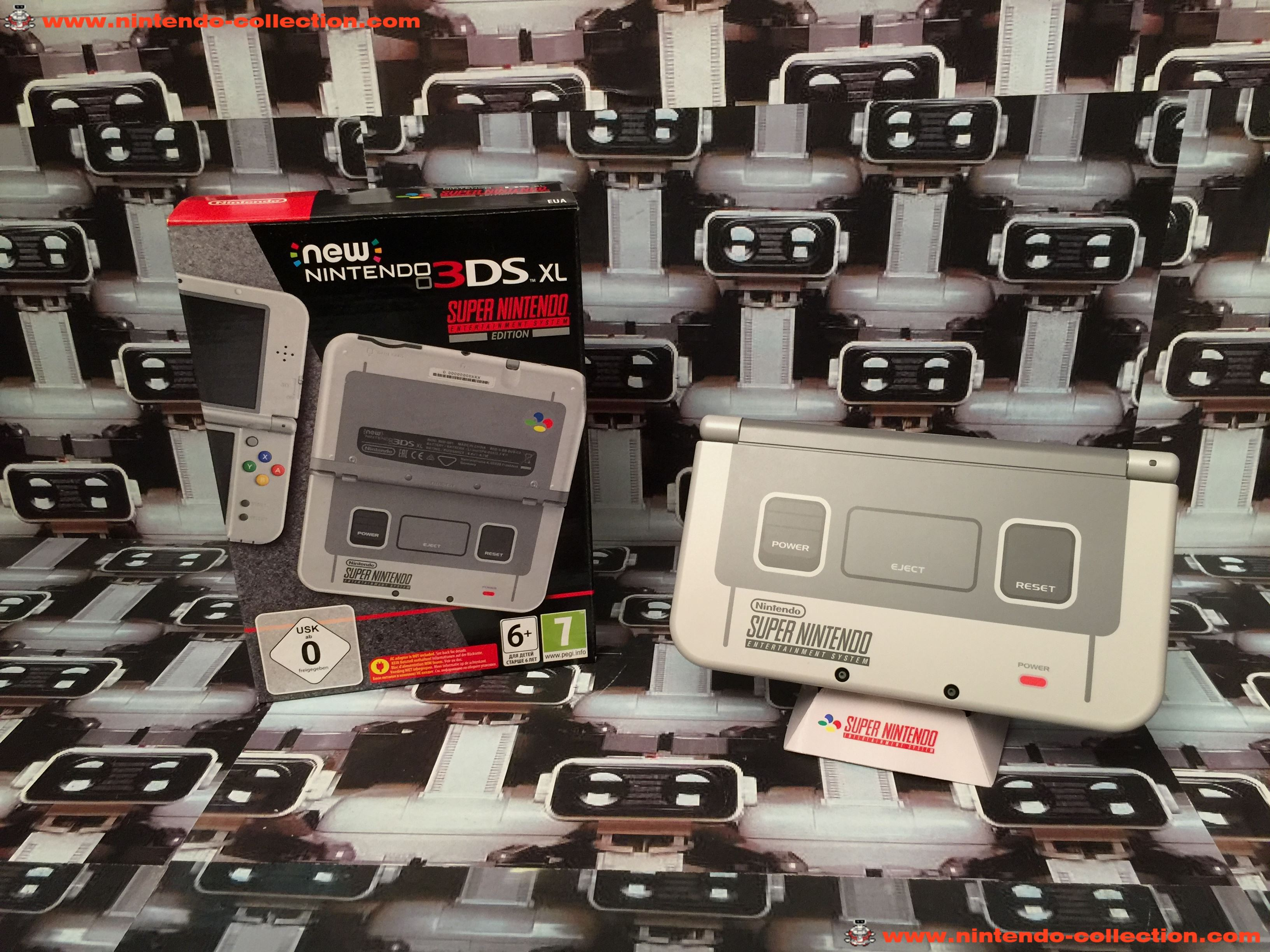 www.nintendo-collection.com - New Nintendo 3DS XL Super Nintendo Entertainment System Edition SNES S