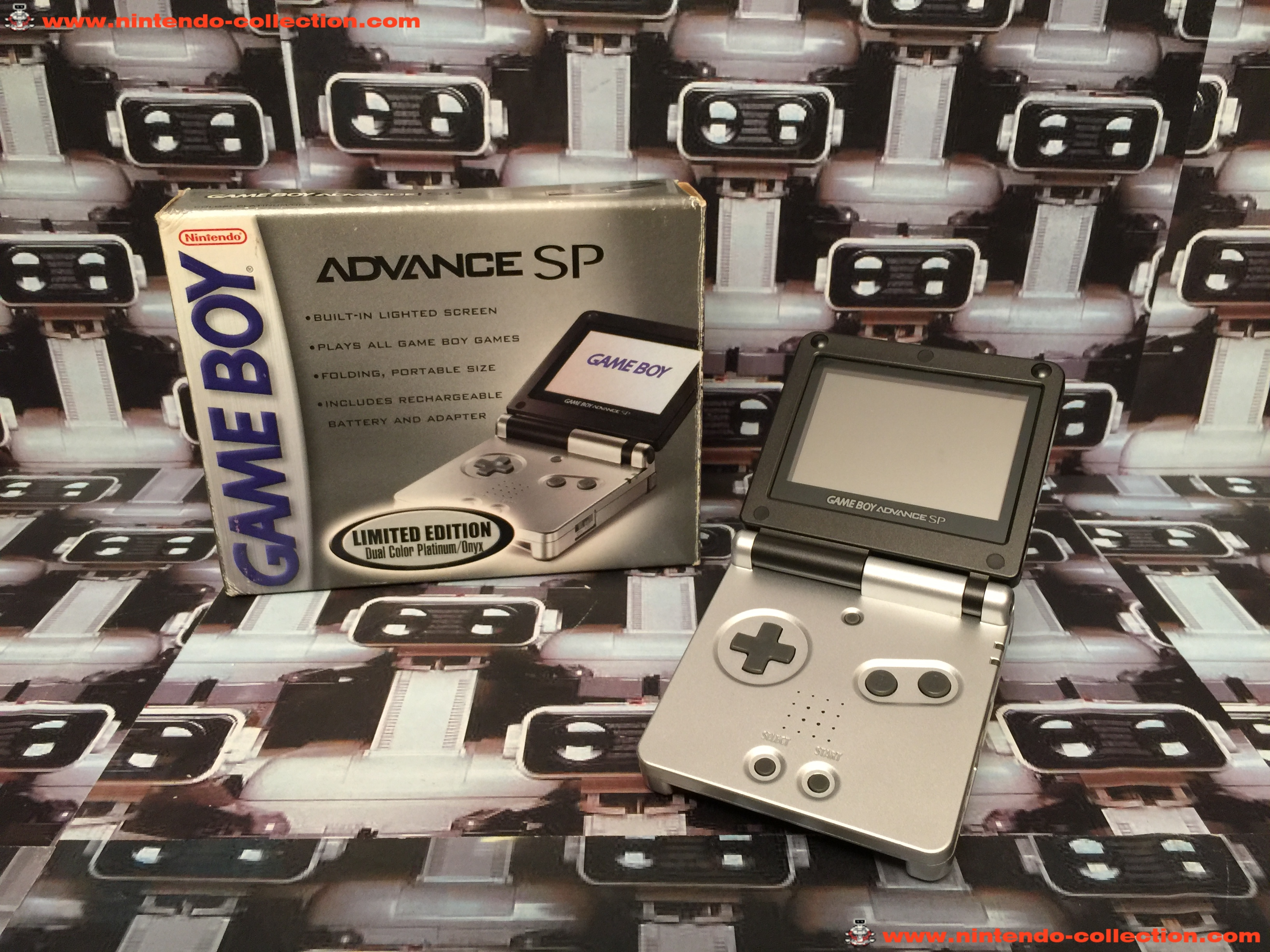 www.nintendo-collection.com - Gameboy Advance GBA SP Black Onyx edition US - 02