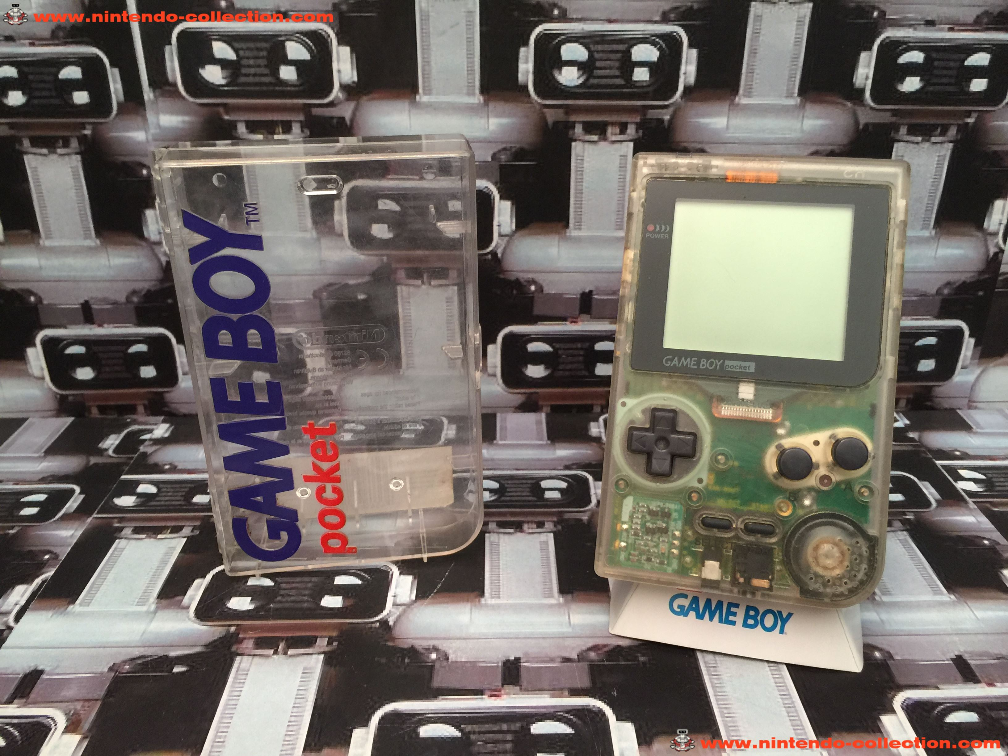 www.nintendo-collection.com - Gameboy Pocket GB Clear Transparente Crystal Box - 01