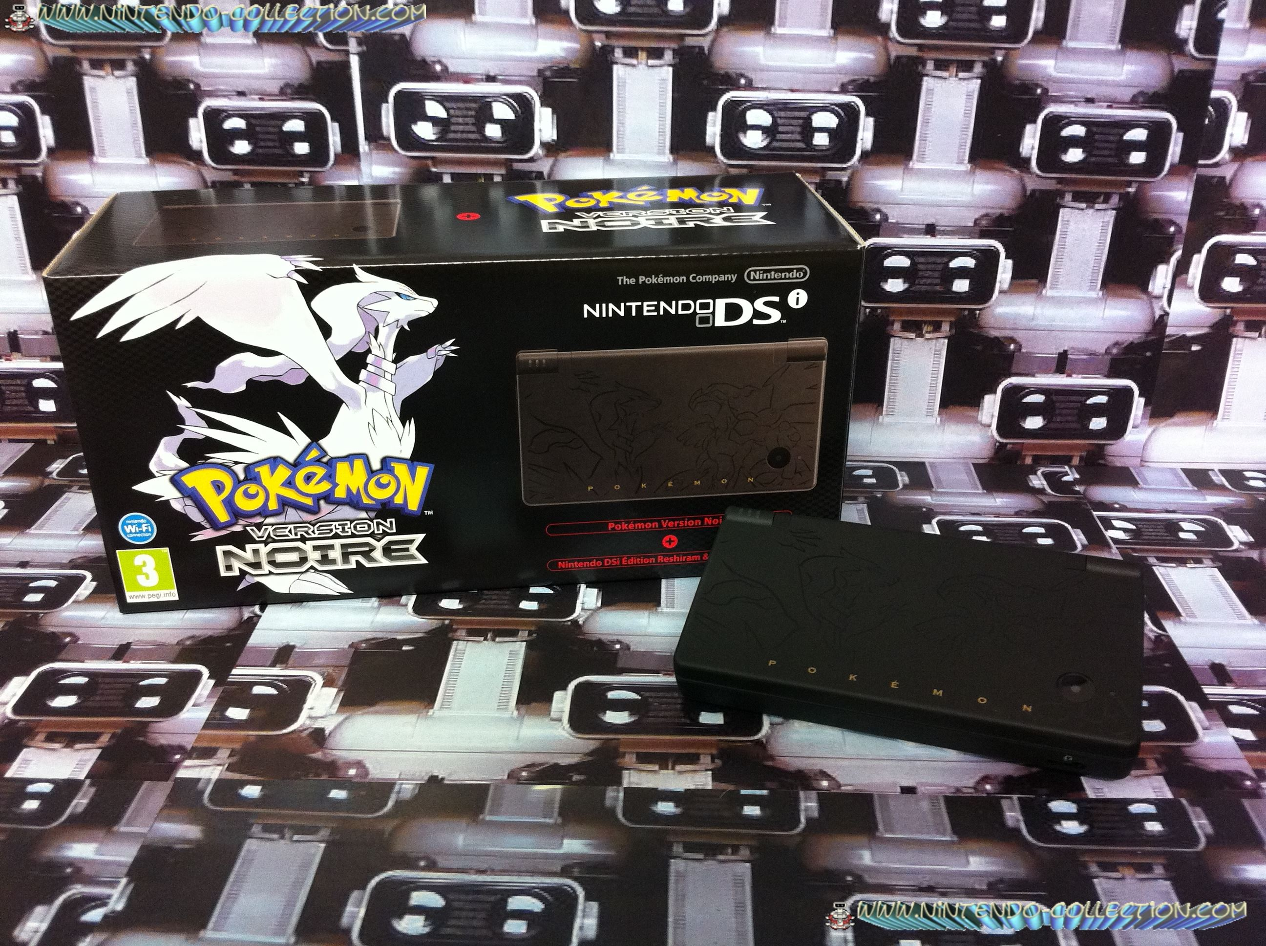 www.nintendo-collection.com - Nintendo DSi version Reshiram Zekrom Pokemon black noir