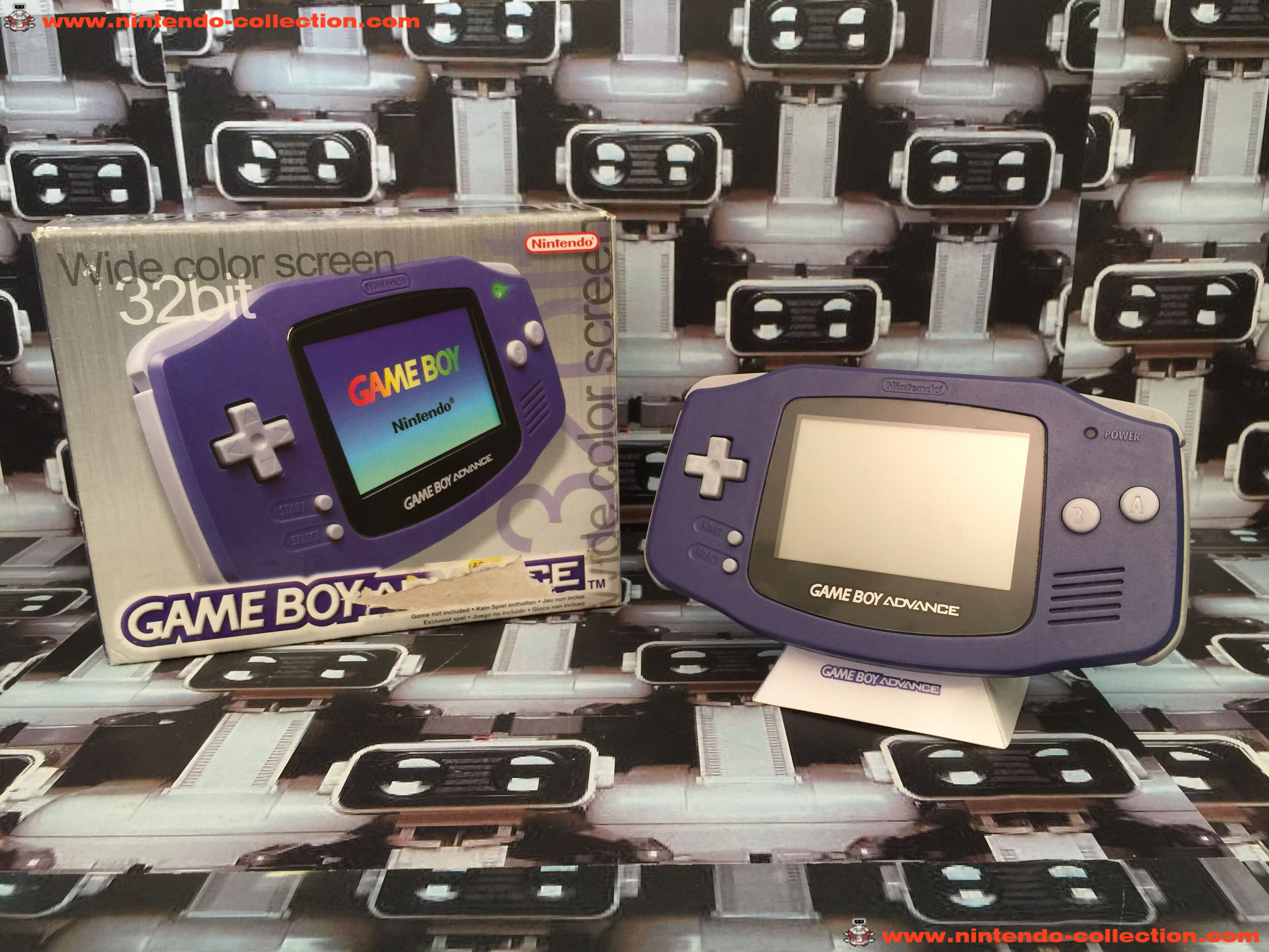 www.nintendo-collection.com - Gameboy Advance GBA Purple Violet Transparent european europeenne