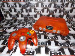 www.nintendo-collection.com - Nintendo 64 N64 Clear orange - orange transparente - Funtastic