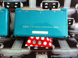 www.Nintendo-Collection.com - Nintendo 3DS Aqua Blue Non Working Unit Demo Store display Factice - 3