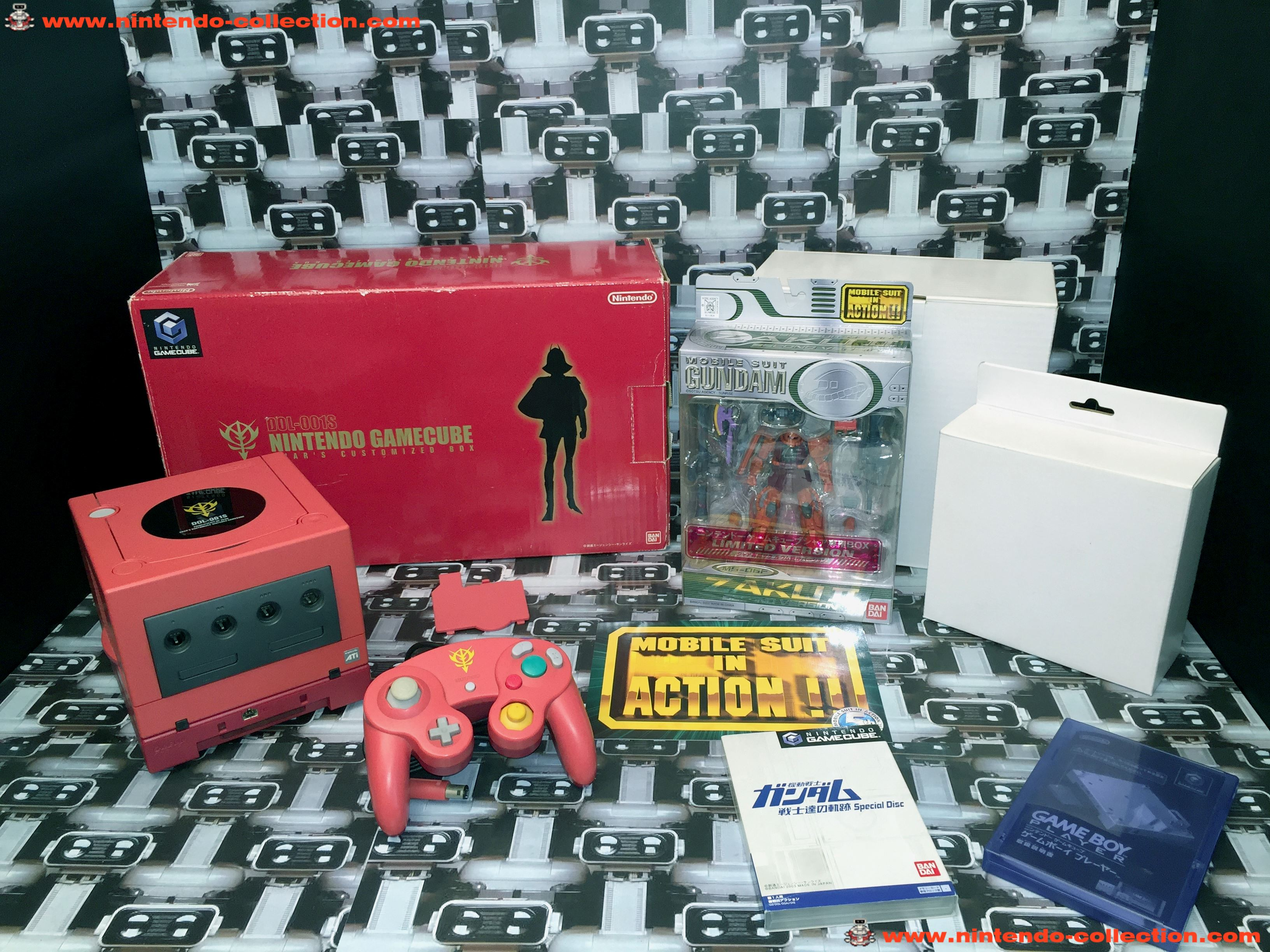 www.nintendo-collection.com - Gamecube Gundam Char's Customized Box Limited Edition Japanese  Japan