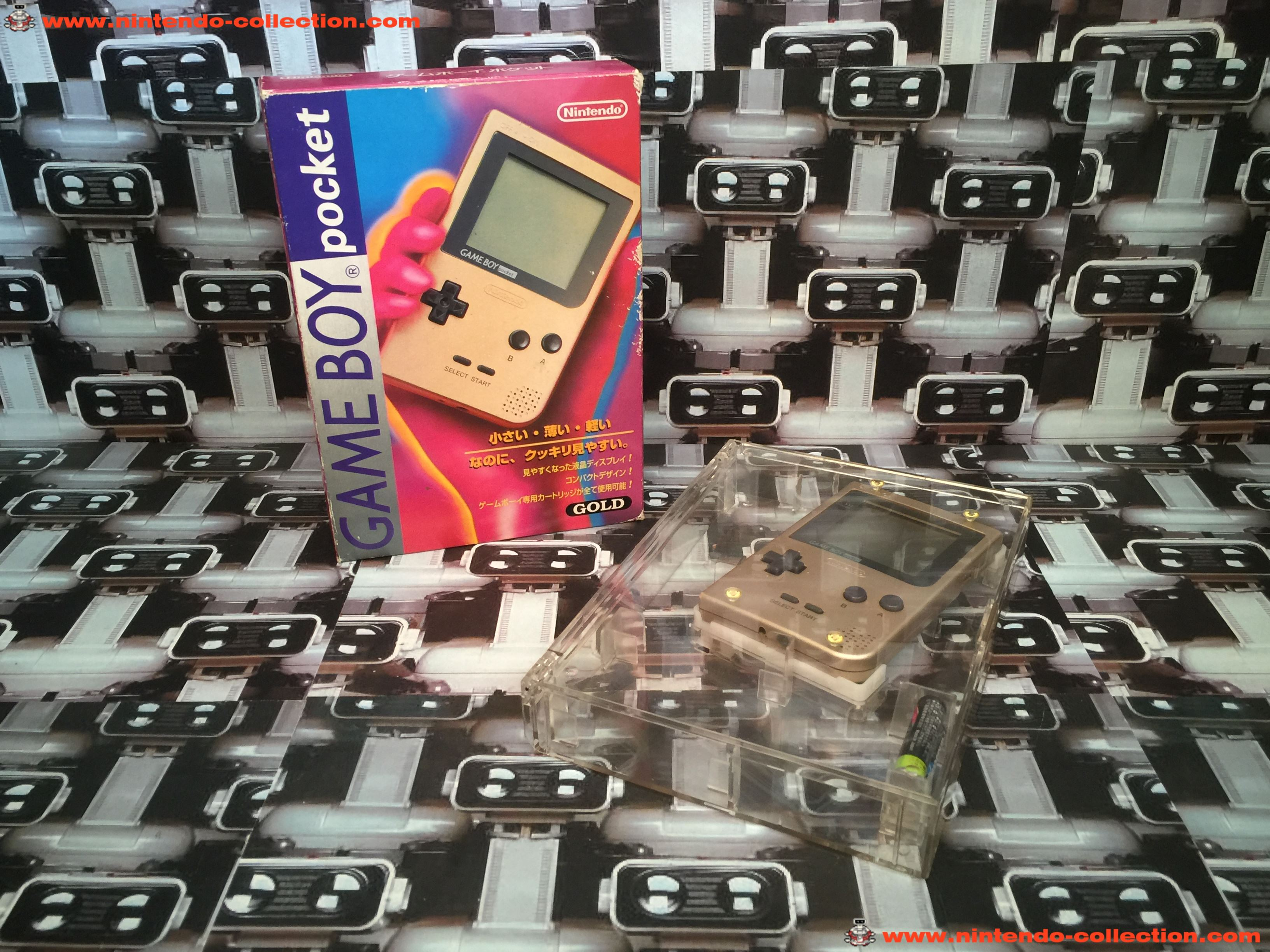 www.nintendo-collection.com - Gameboy GB Pocket Gold en boite in box Japan - 02