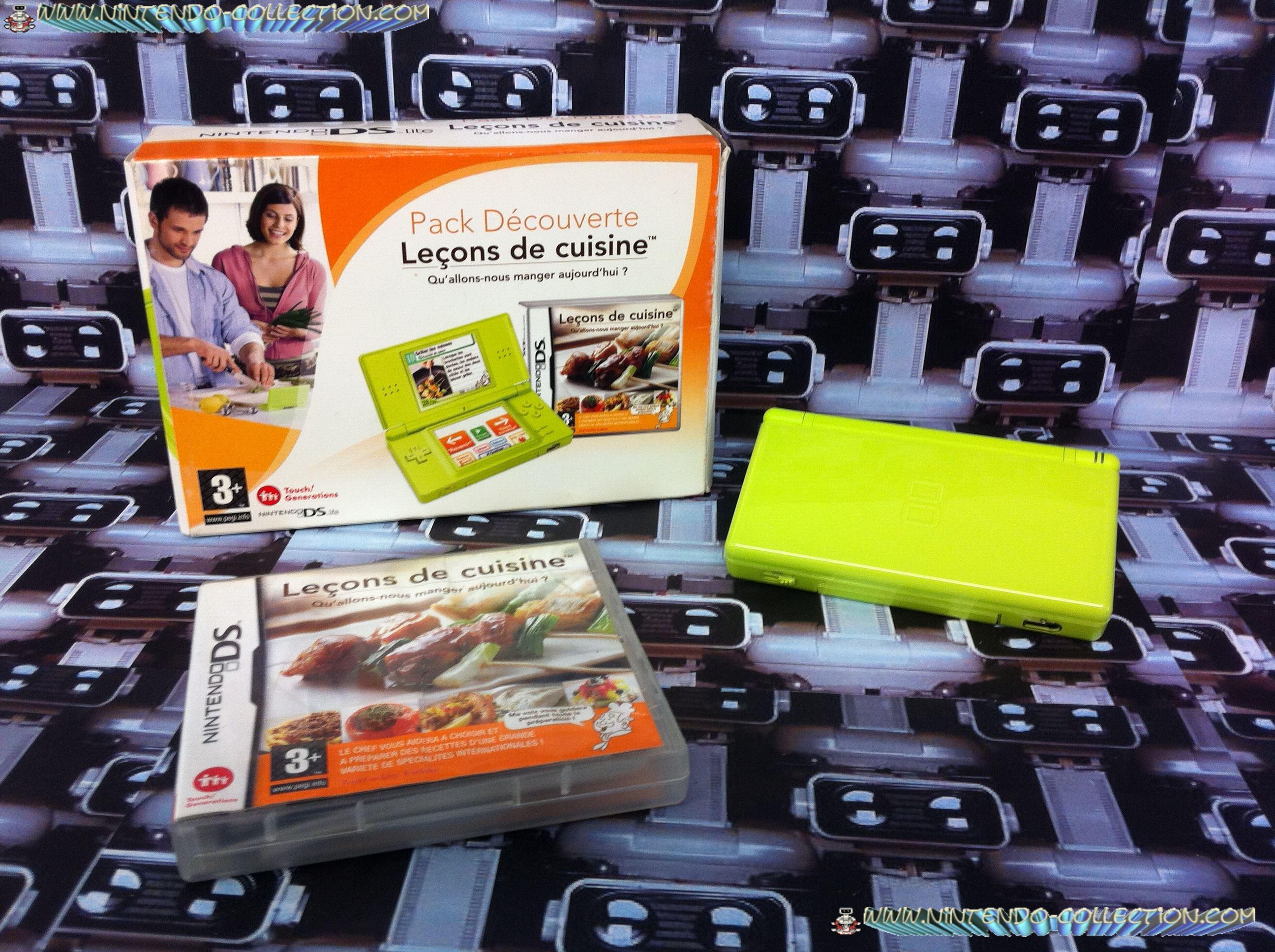 www.nintendo-collection.com - DS Lite Kiwi Verte Green Pack Lecon de cuisine