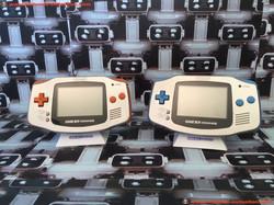 www.nintendo-collection.com - Gameboy Advance GBA Prototype Silver Orange silver blue