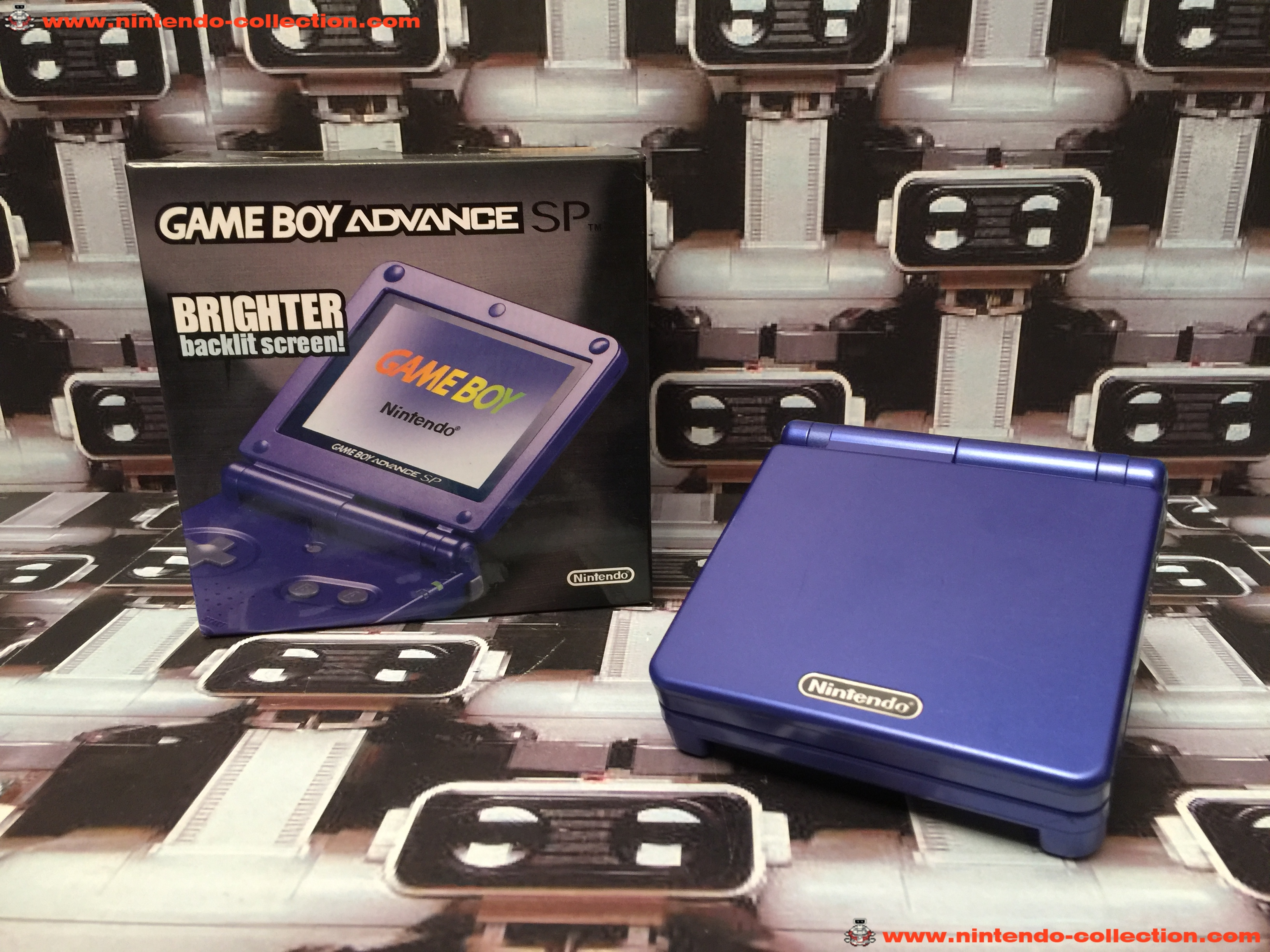 www.nintendo-collection.com - Gameboy Advance GBA SP Blue Bleu edition Singapour Singapore - 01