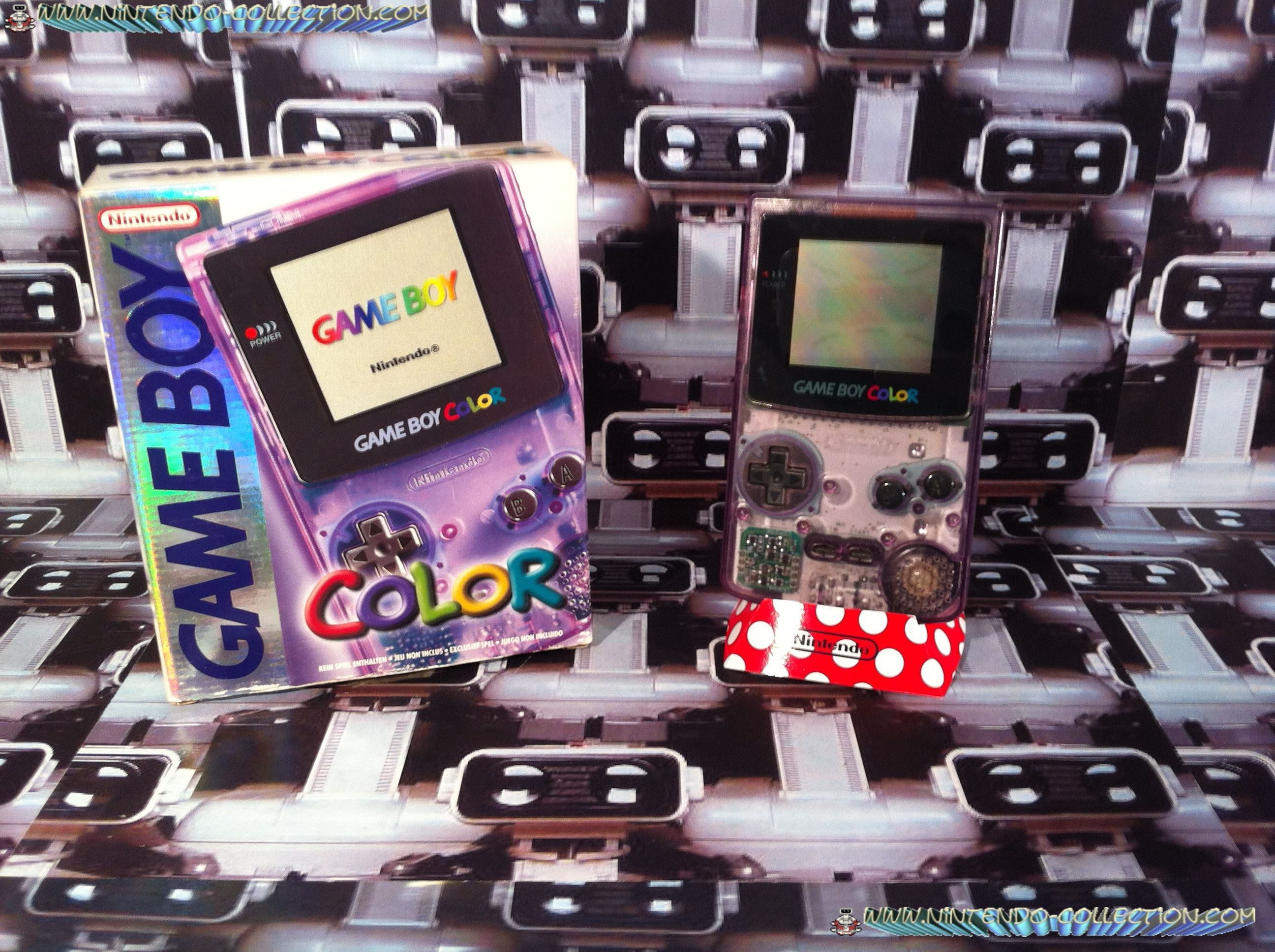 www.nintendo-collection.com - Gameboy Color violette transparente Clear Purpple edition european eur