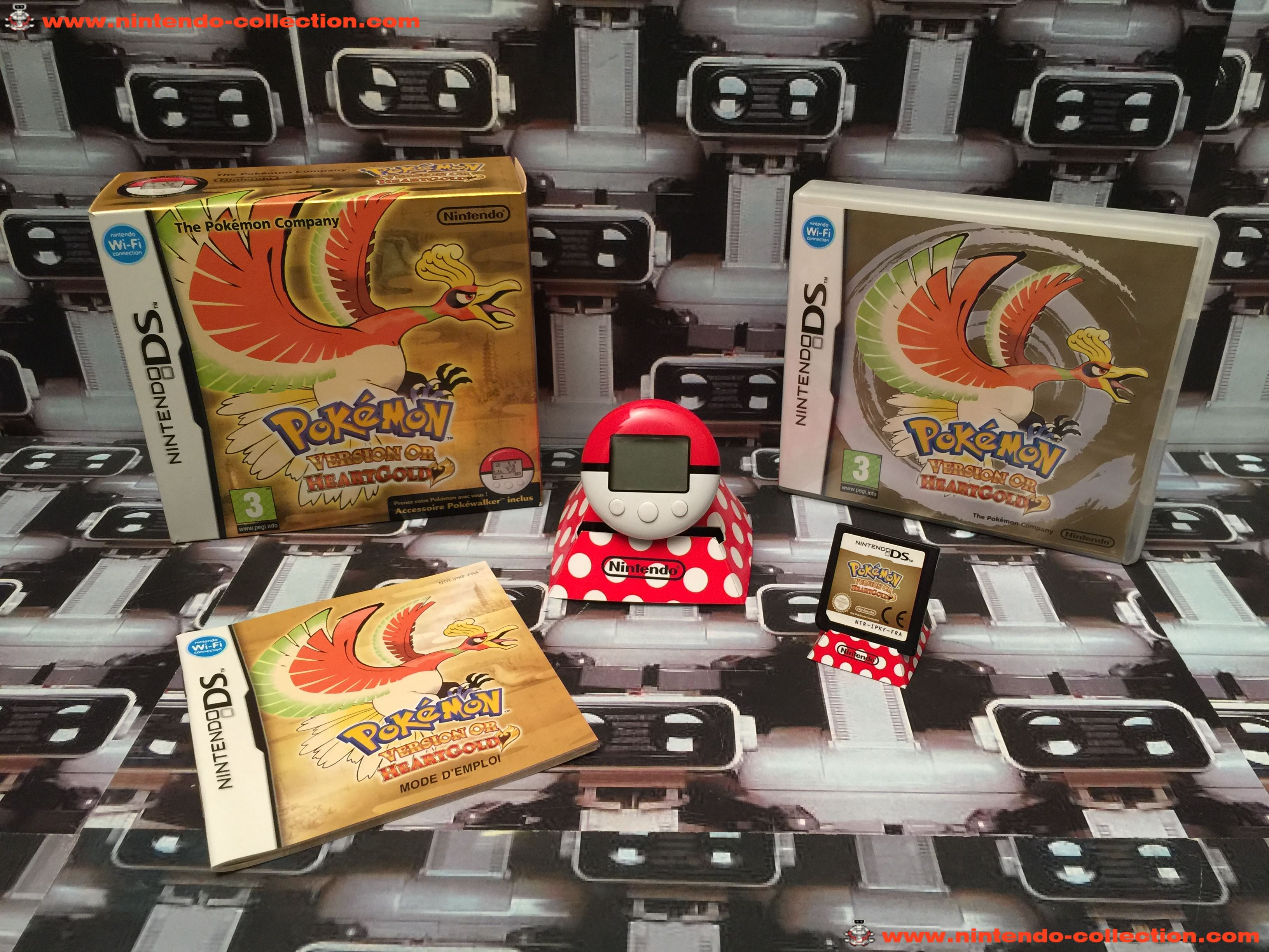 www.nintendo-collection.com - Nintendo DS Jeux Game Pokemon Version Gold Or Pokewalker Euro Fr