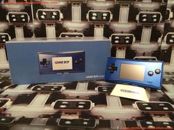 www.nintendo-collection.com - Gameboy Advance GBA Micro Blue bleue european version europeenne versi