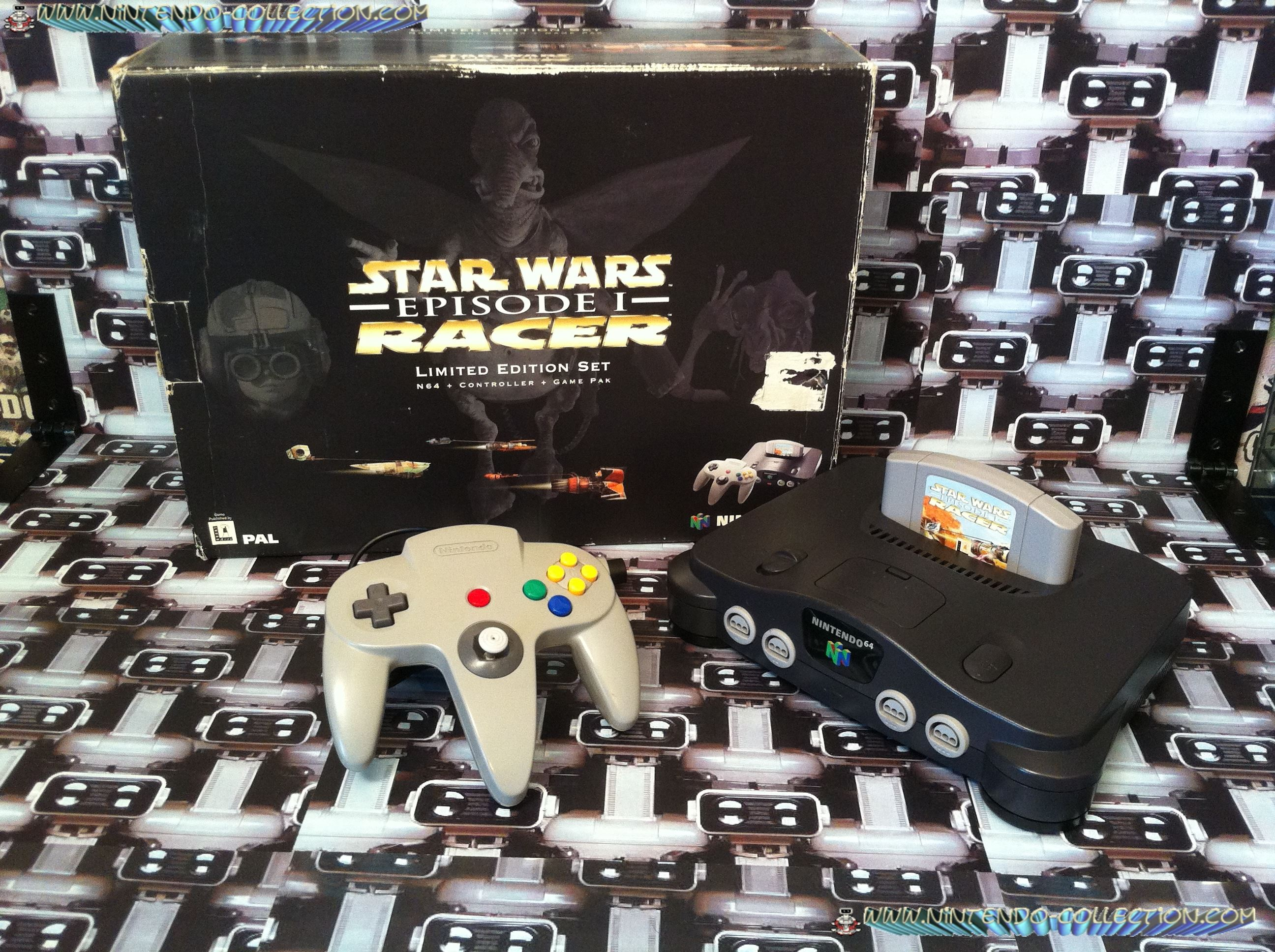 www.nintendo-collection.com - Nintendo 64 N64 Star Wars Racer edition Set
