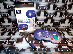 www.nintendo-collection.com - Gamecube controller manette Hori Gameboy player Purple violet